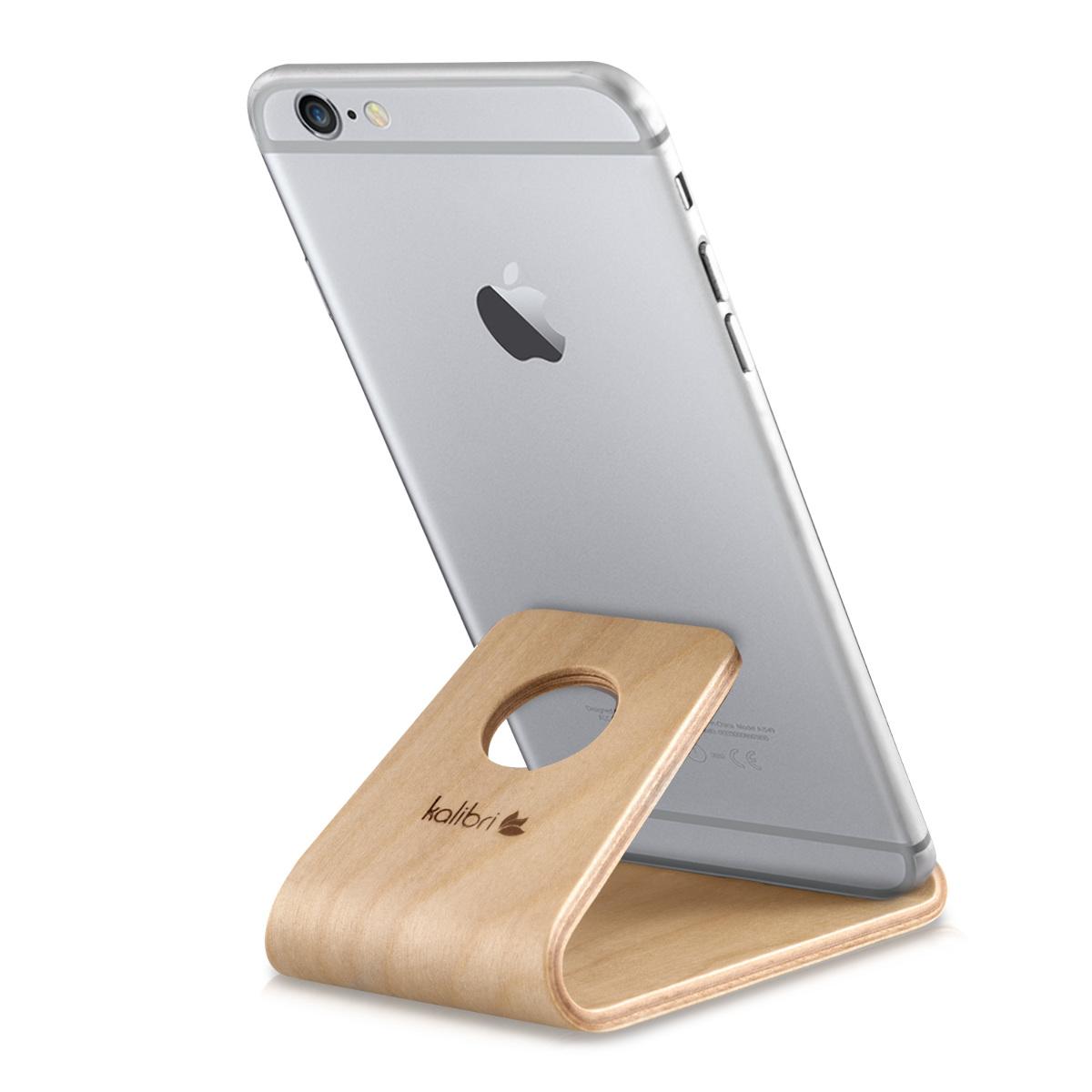 Kalibri Universal Wooden Stand - Ξύλινη Βάση για iPhone / Android / Tablet / e-Reader - Light Brown (38799.24)