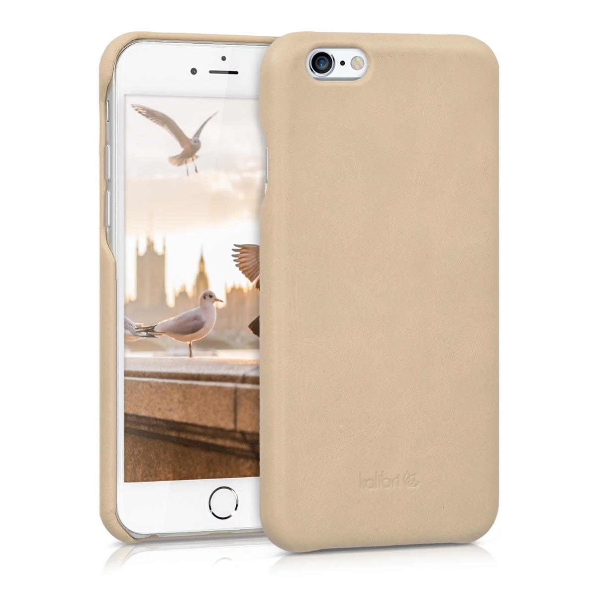 Kalibri Σκληρή Δερμάτινη iPhone 6 / 6S - Μπεζ(38961.11)