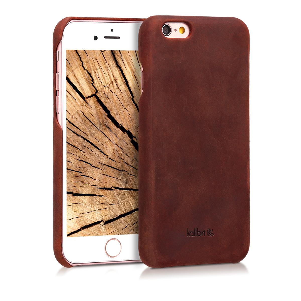 Kalibri Σκληρή Δερμάτινη Θήκη iPhone 6 / 6S - Bordeaux (38961.13)