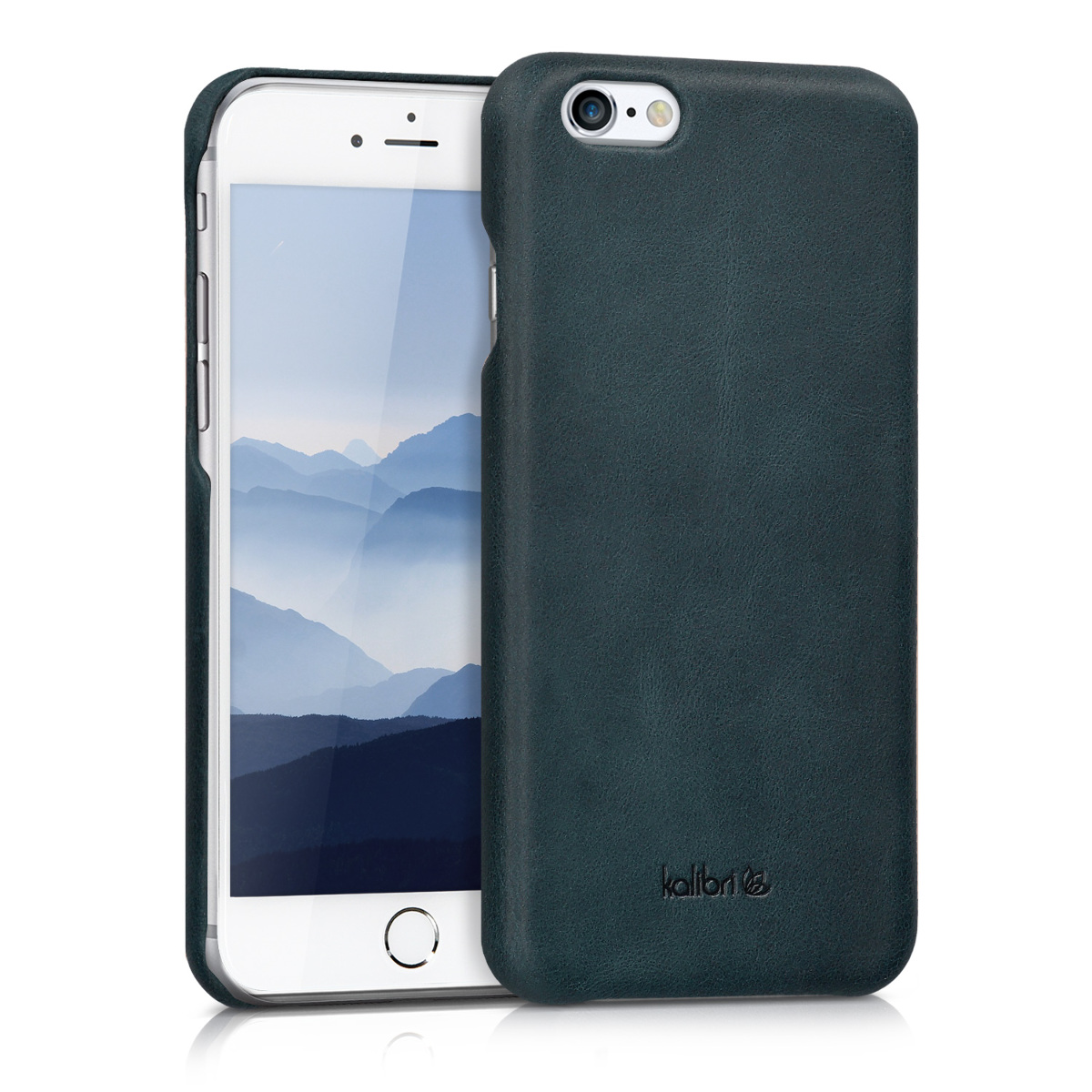 Kalibri Σκληρή Δερμάτινη Θήκη iPhone 6 / 6S - Dark Blue (38961.17)