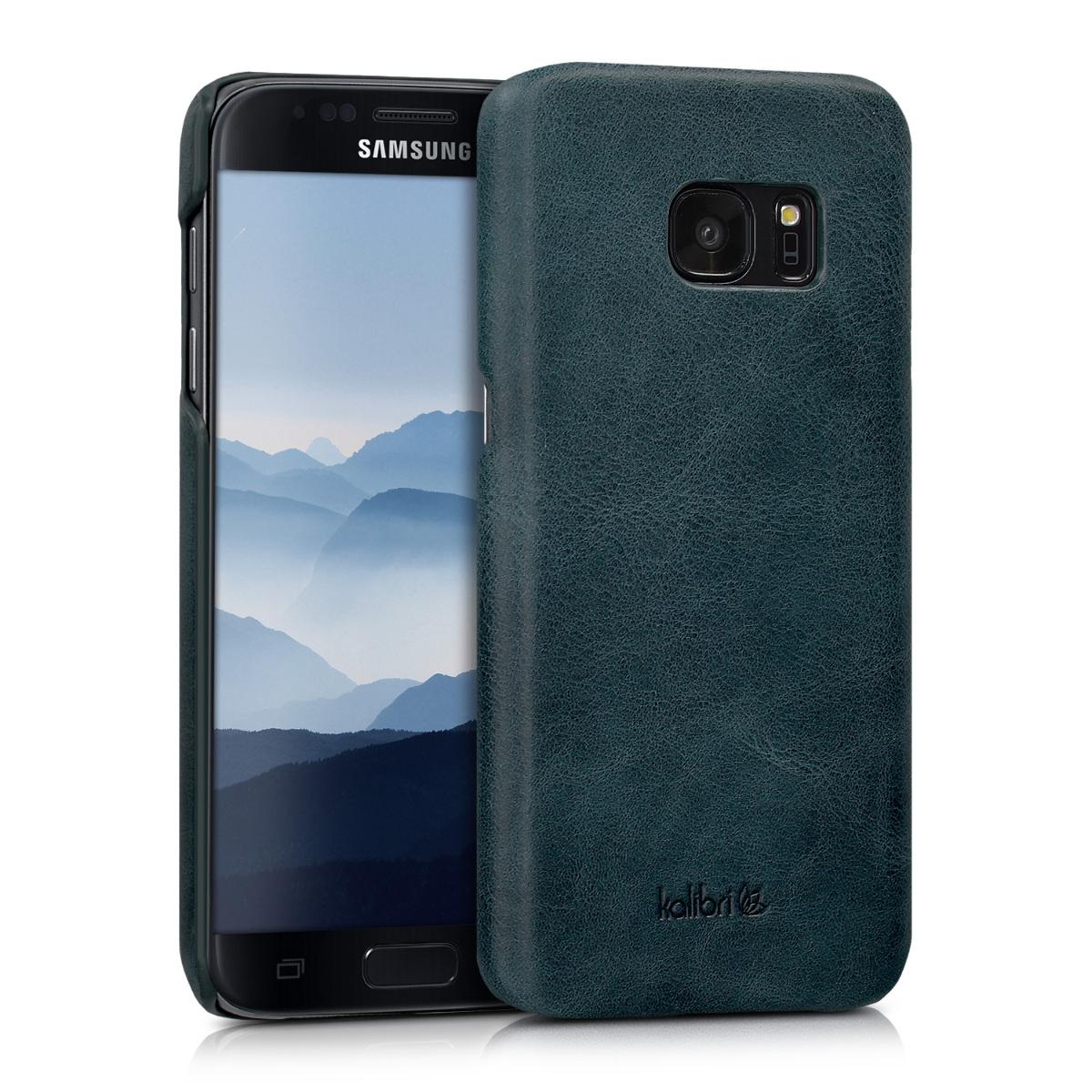 Kalibri Σκληρή Δερμάτινη Θήκη Samsung Galaxy S7 - Dark Blue (38965.17)