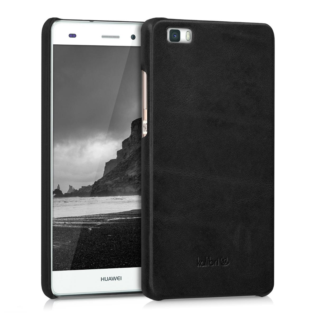 Kalibri Σκληρή Δερμάτινη Θήκη Huawei P8 Lite - Black (38966.01)
