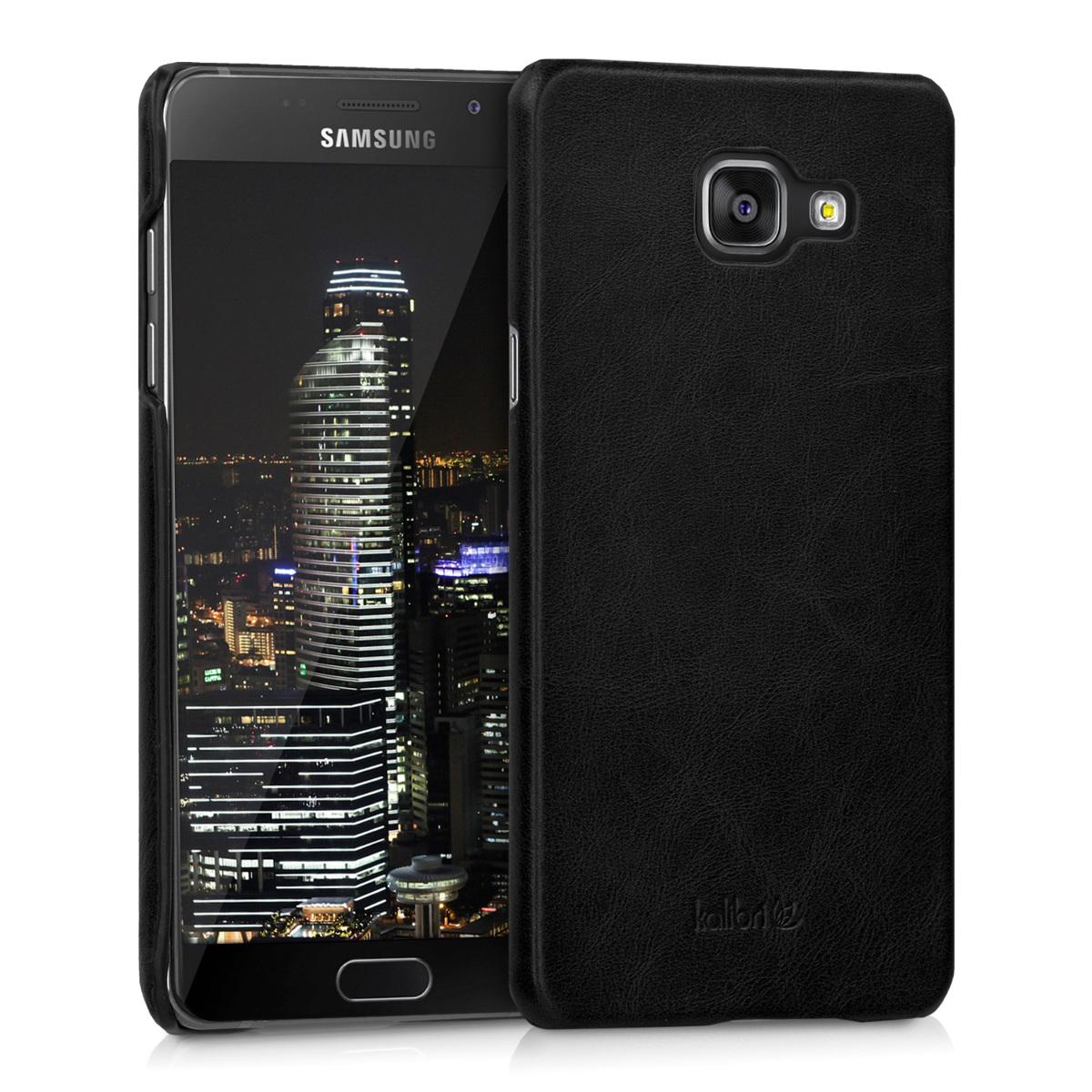 Kalibri Σκληρή Δερμάτινη Θήκη Samsung Galaxy A5 2016 - Black