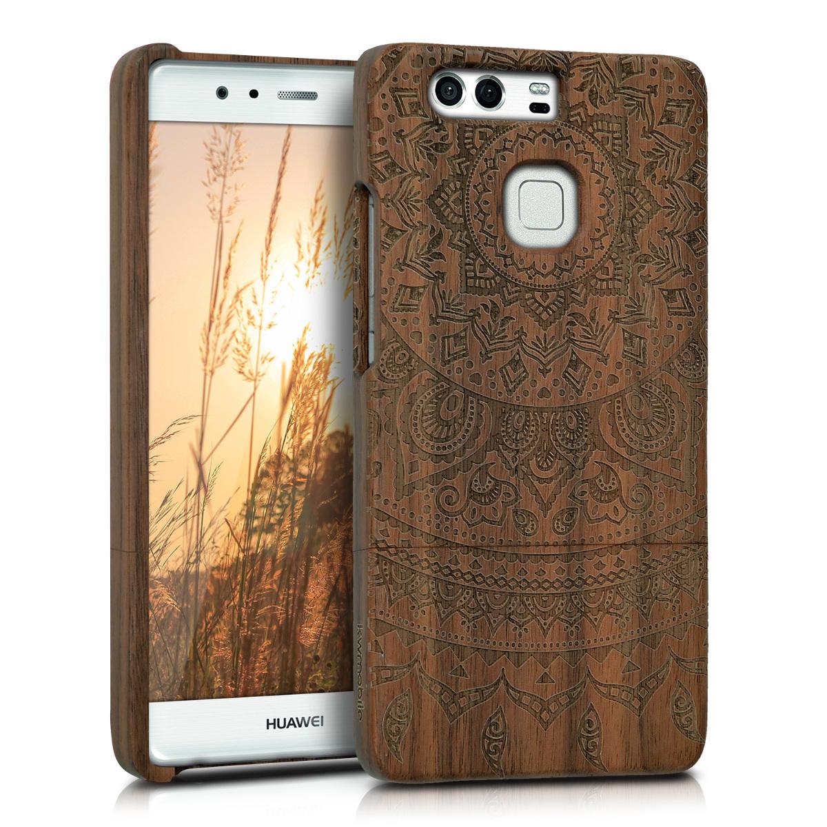KW Ξύλινη Θήκη Huawei P9 - Brown  (39126.02)