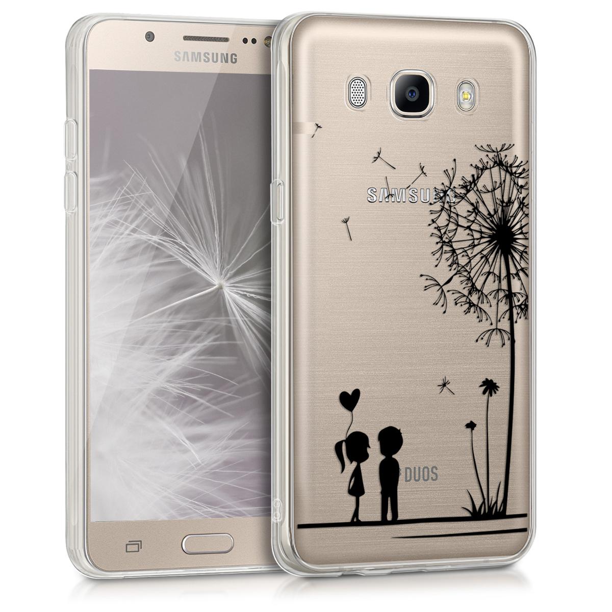 KW Θήκη Σιλικόνης Samsung Galaxy J5 2016 DUOS - Black / Transparent (39166.06)