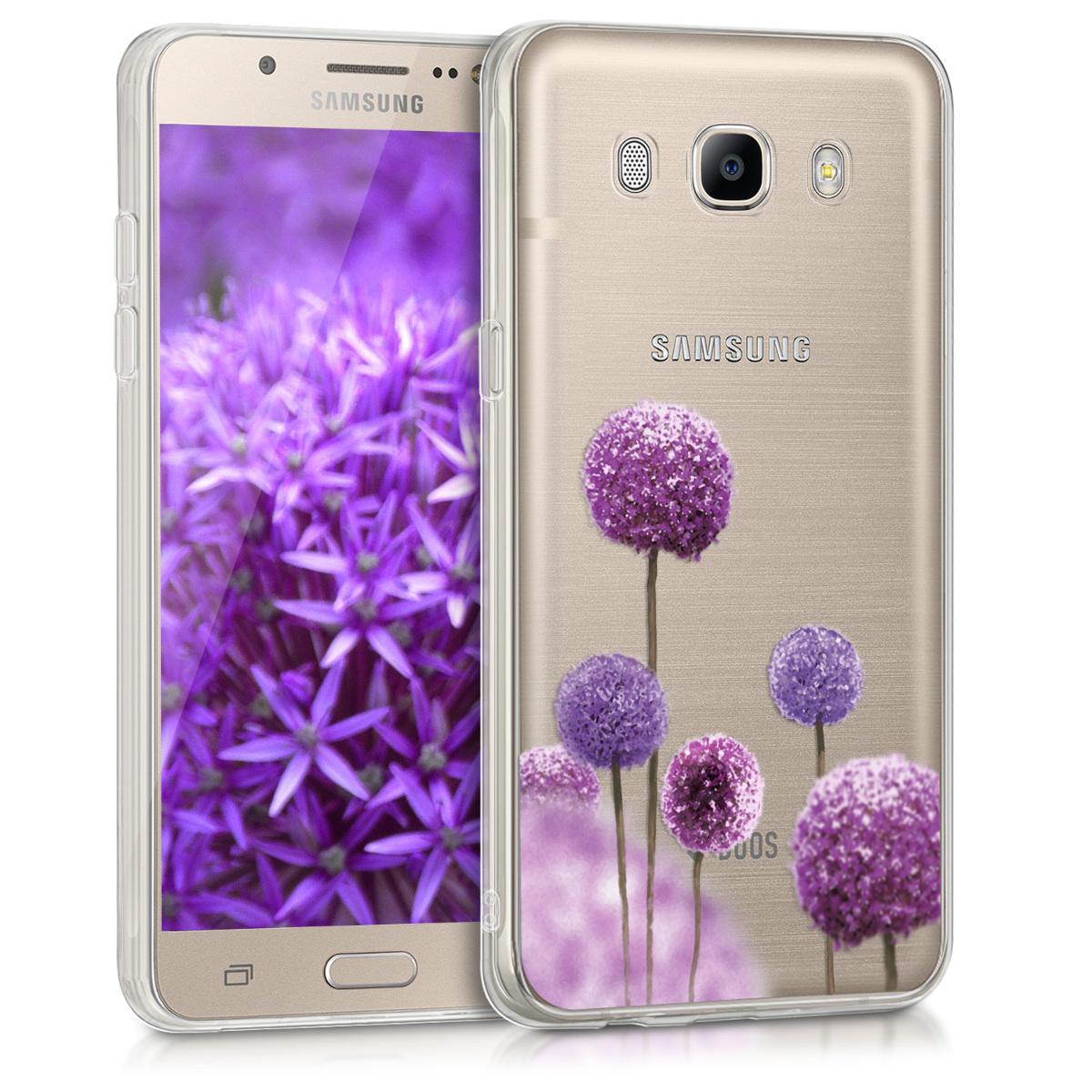 KW Θήκη Σιλικόνης Samsung Galaxy J5 2016 DUOS - Dark Pink / Violet / Transparent (39166.07)