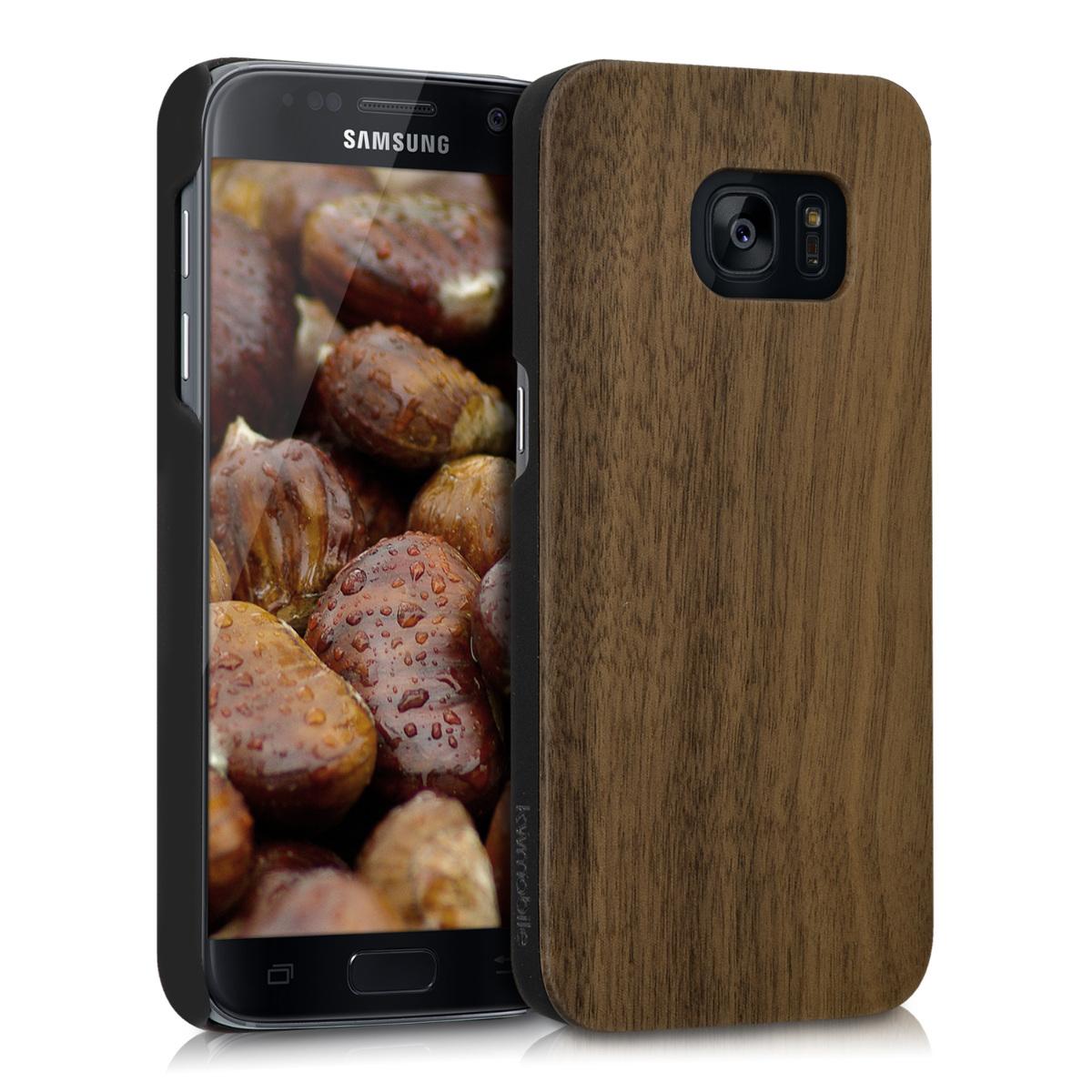 KW Ξύλινη Θήκη Samsung Galaxy S7 - Dark Brown (39182.18)