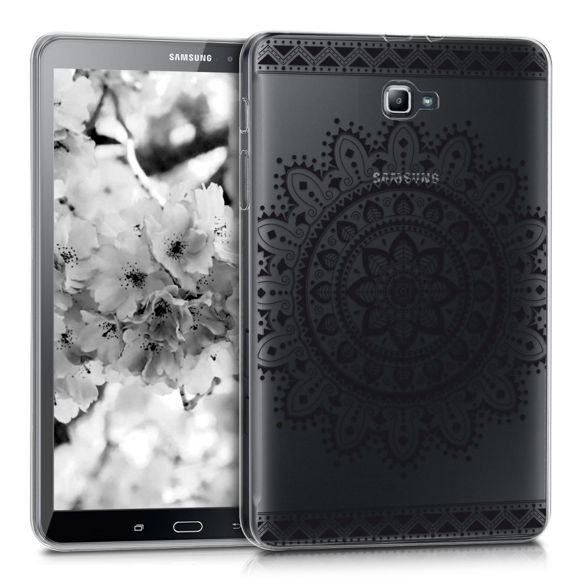 KW Θήκη Σιλικόνης Samsung Galaxy Tab A 10.1 T580N/T585N 2016 - Black / Transparent (39267.04)