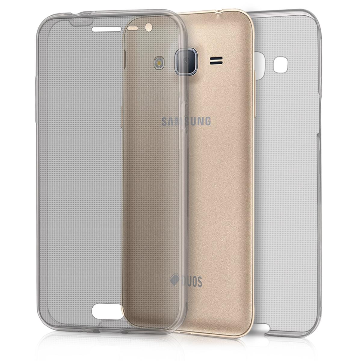 KW Θήκη Σιλικόνης Full Body Samsung Galaxy J3 2016 - Διάφανο (39319.01)