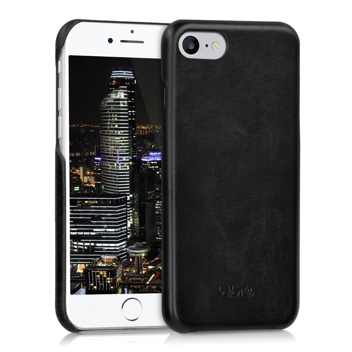 Kalibri Σκληρή Δερμάτινη Θήκη iPhone 8 / 7 - Black (39345.01)