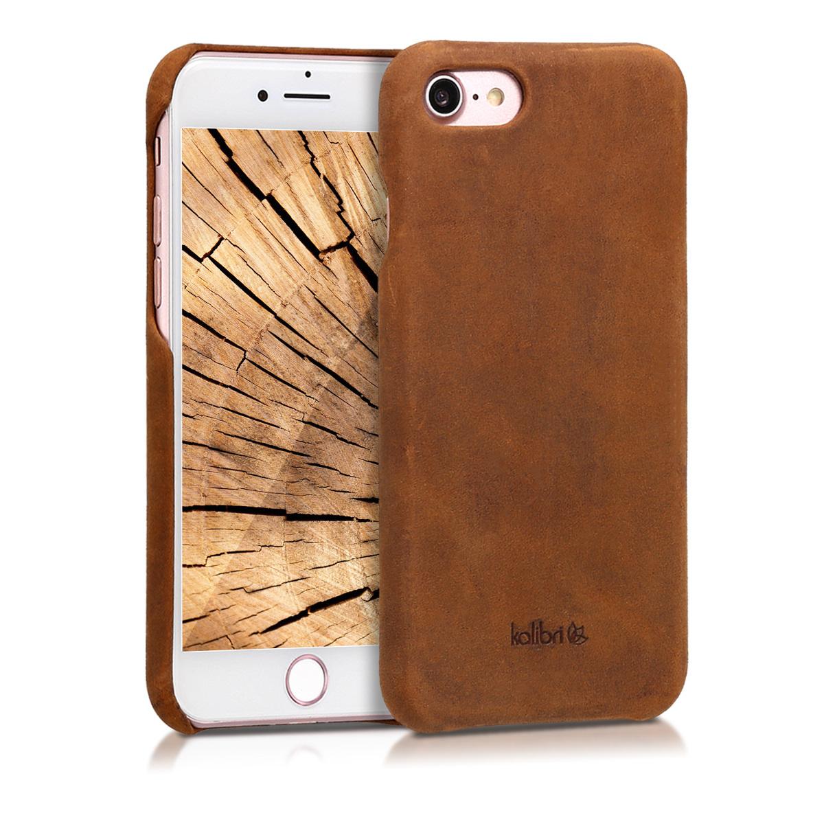 Kalibri Σκληρή Δερμάτινη Θήκη iPhone 8 / 7 - Brown (39345.05)