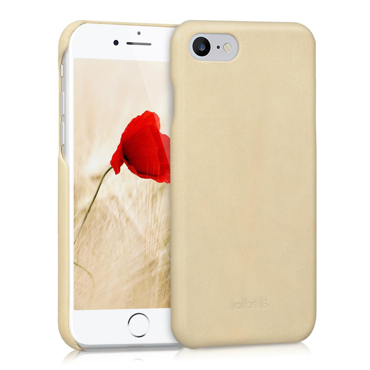 Kalibri Σκληρή Δερμάτινη Θήκη iPhone 7 / 8 - Beige (39345.11)
