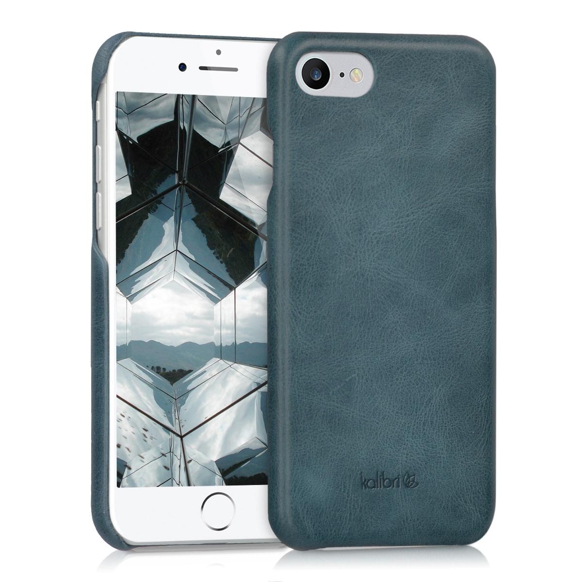 Kalibri Σκληρή Δερμάτινη Θήκη iPhone 8 / 7 - Dark Blue (39345.17)
