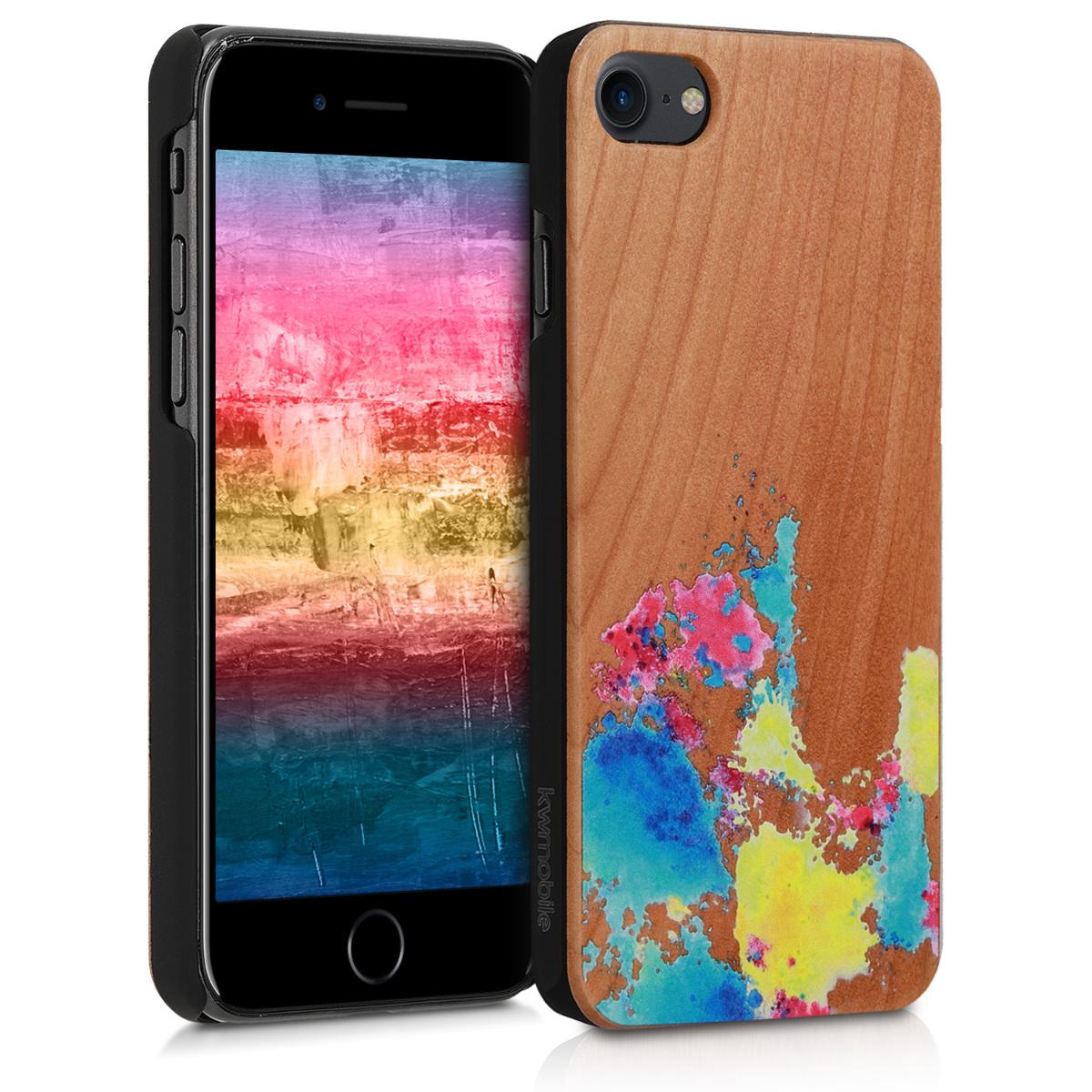 KW Ξύλινη Θήκη iPhone 7 / 8 - Πολύχρωμη (39462.10)