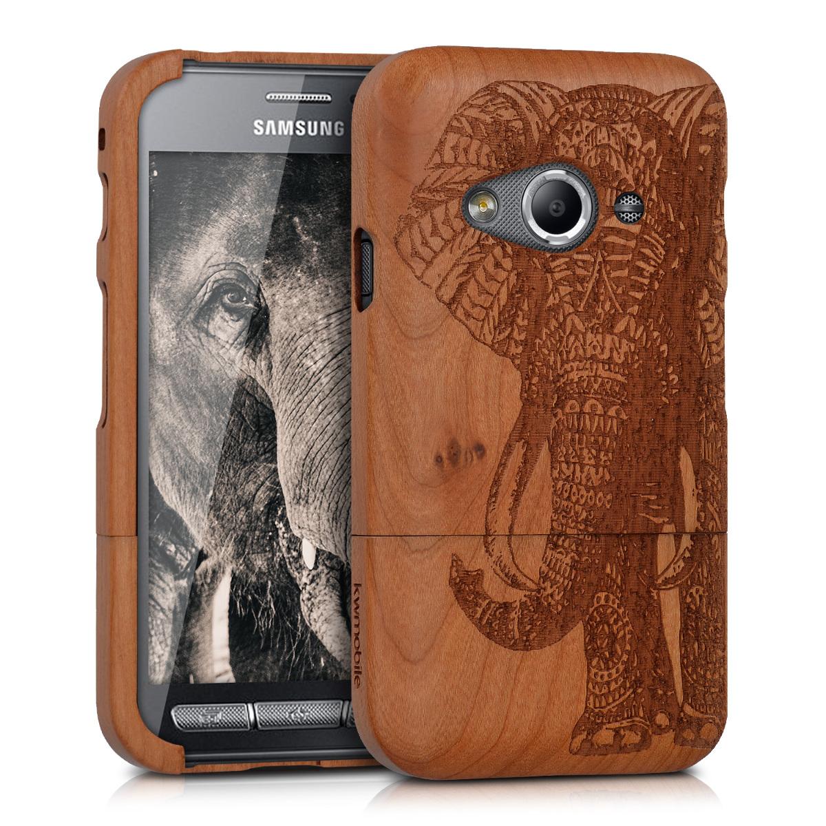 KW Ξύλινη Θήκη Samsung Galaxy Xcover 3 - Elephant - Brown (39482.01)