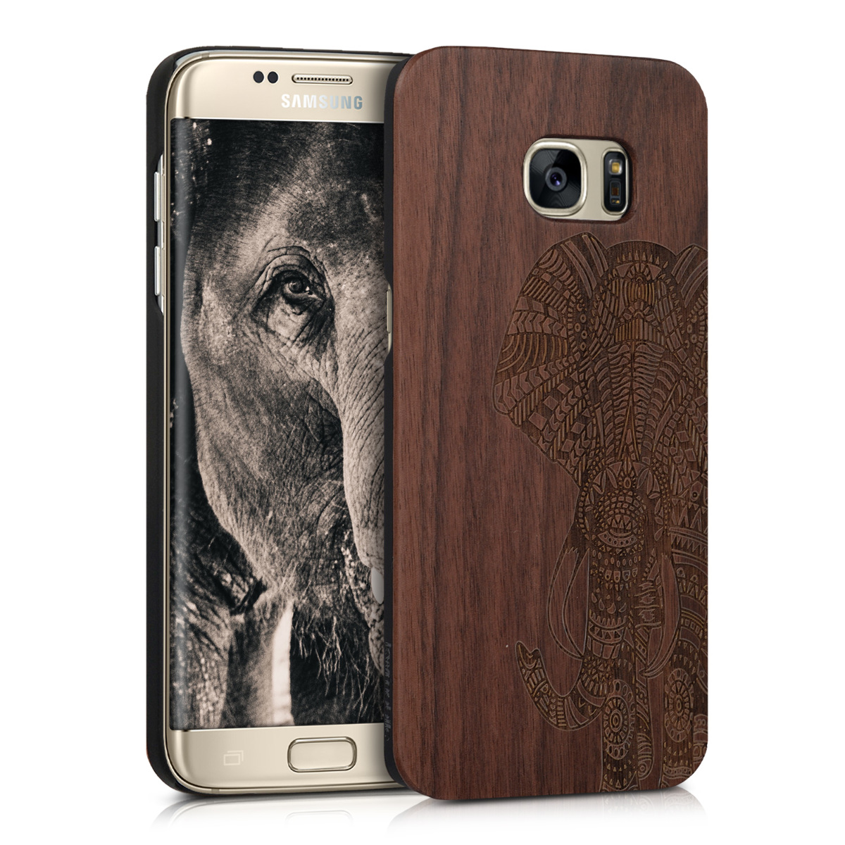 KW Ξύλινη Θήκη Samsung Galaxy S7 Edge - Brown - Elephant  (39560.03)
