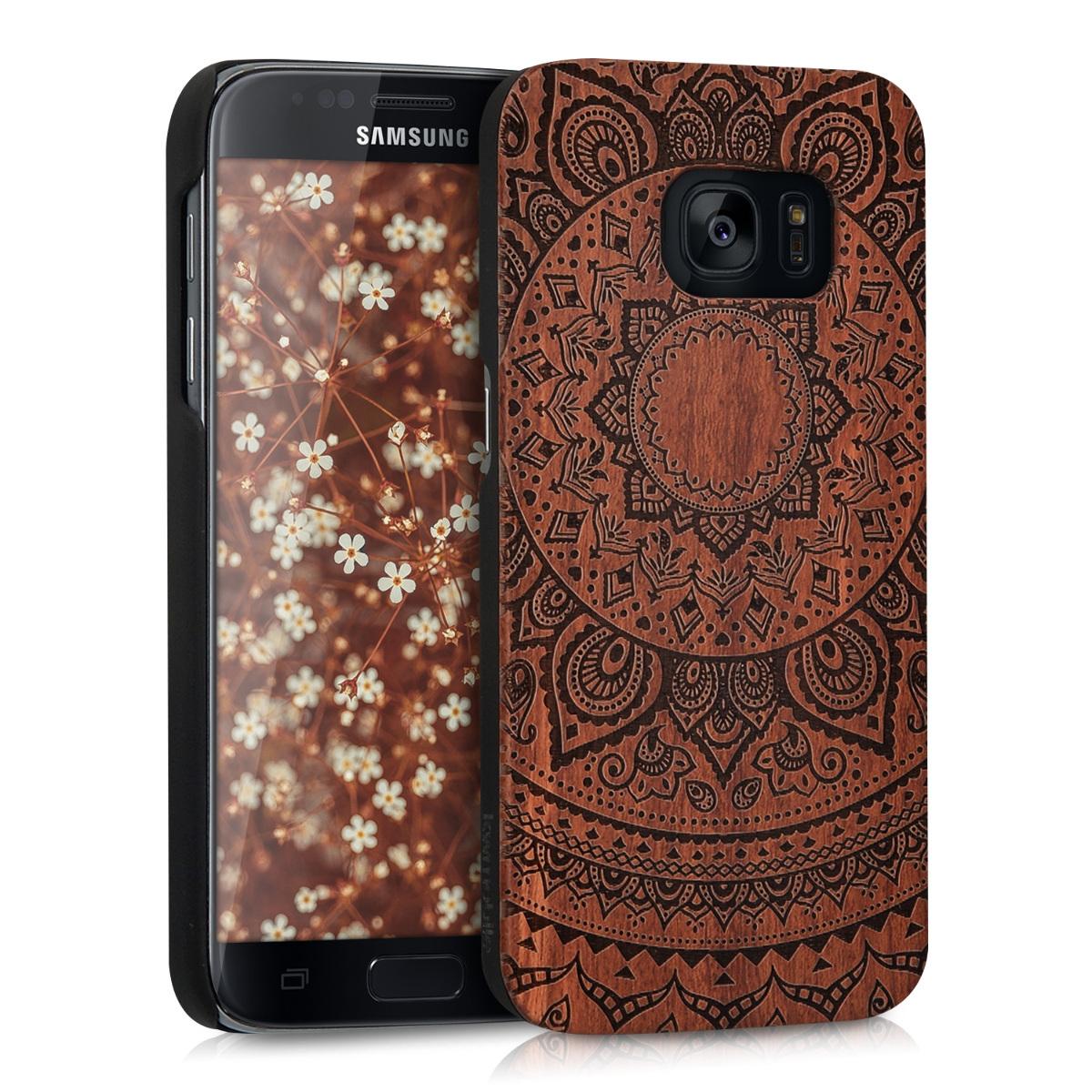 KW Ξύλινη Θήκη Samsung Galaxy S7 - Brown - Mandala (39561.01)