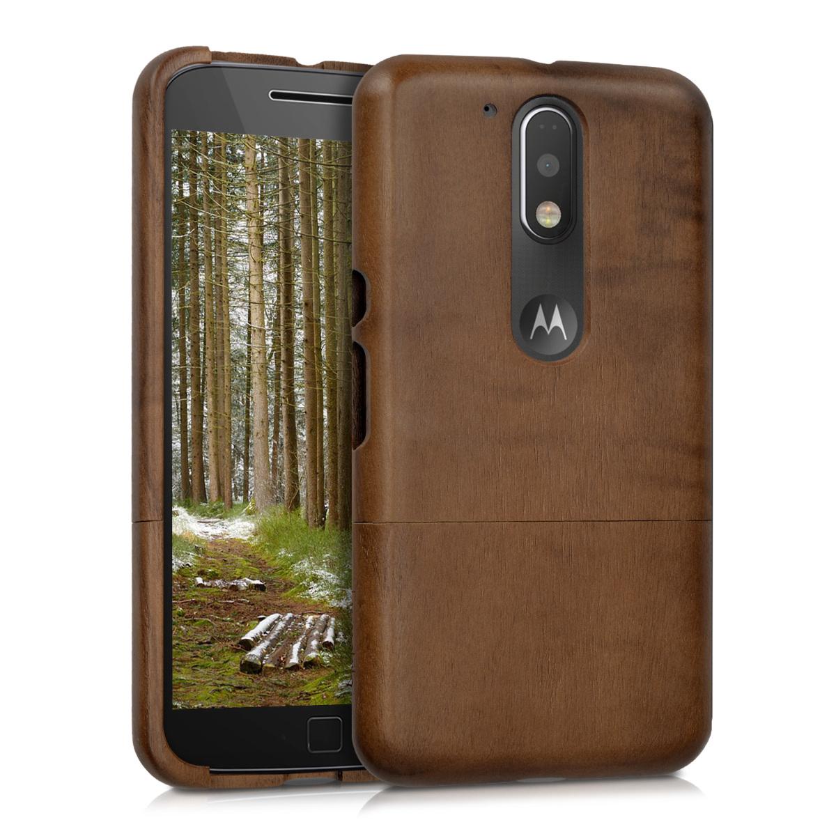 KW Ξύλινη Θήκη Motorola Moto G4 / Moto G4 Plus - (39570.18)