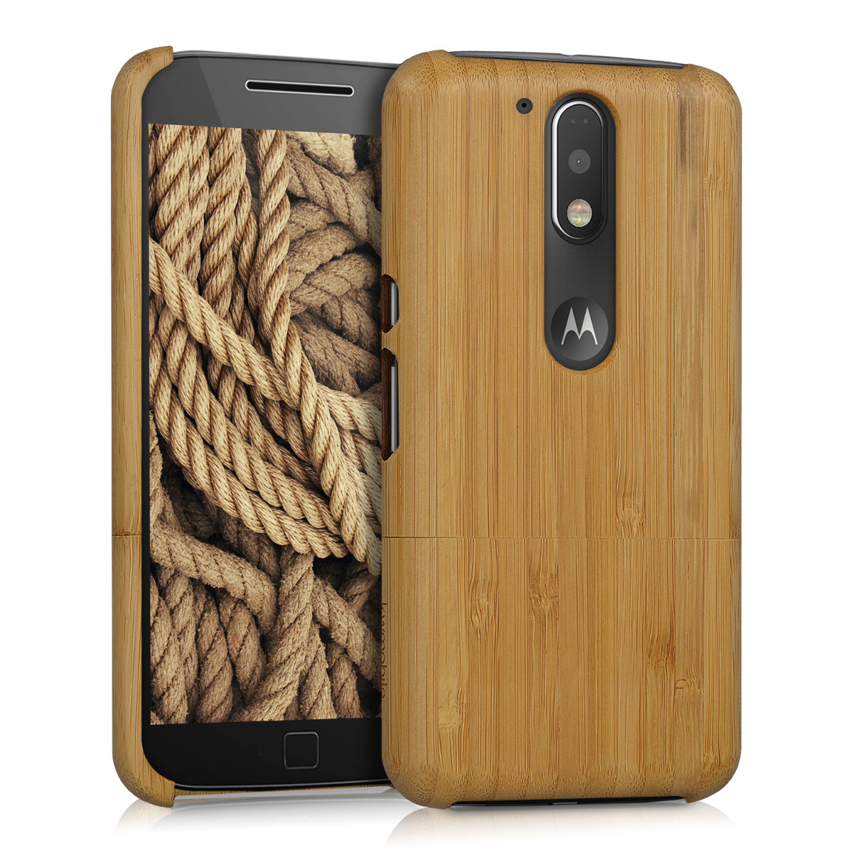 KW Ξύλινη Θήκη Motorola Moto G4 / G4 Plus - Light Brown Bamboo (39570.24)