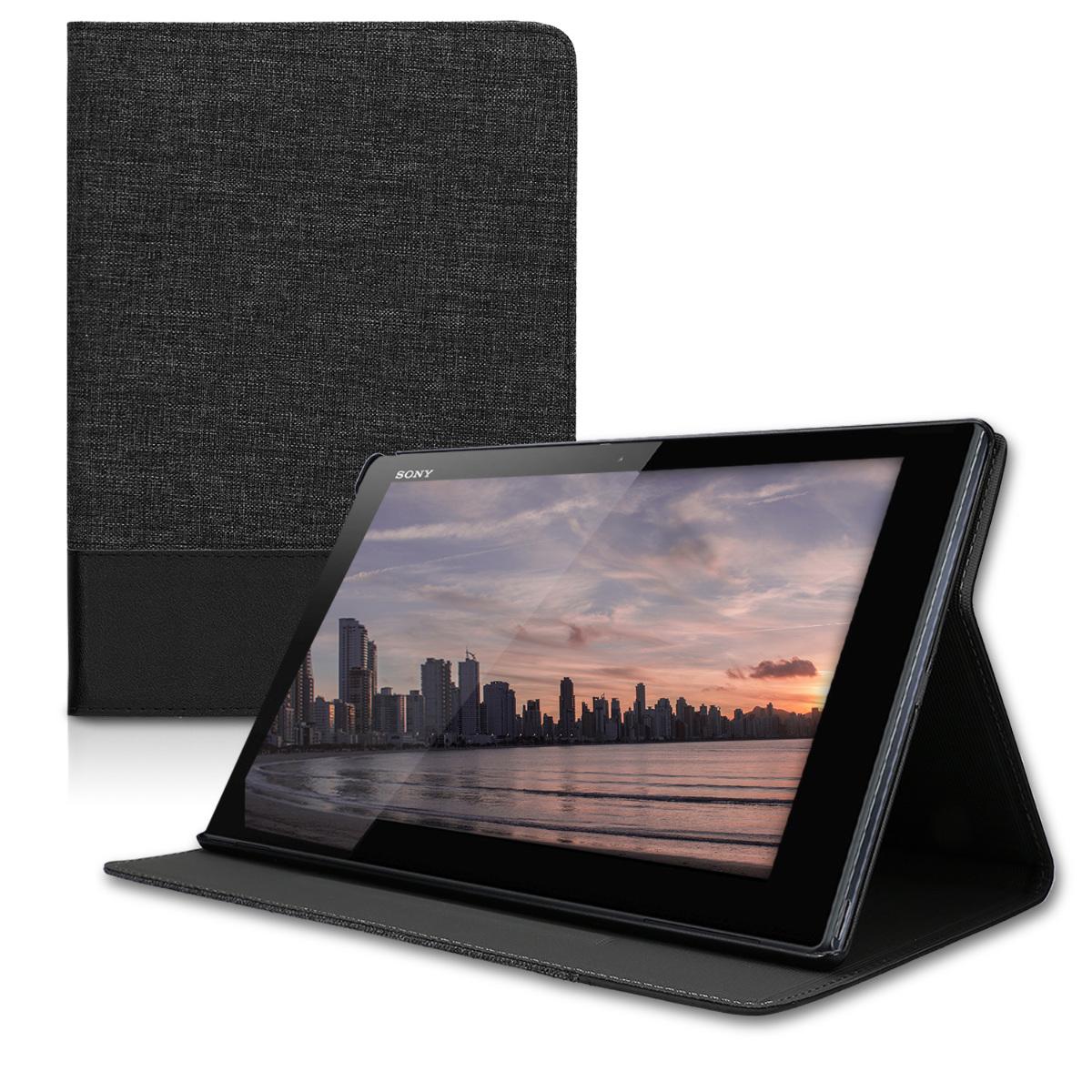 KW Θήκη Πορτοφόλι Sony Xperia Tablet Z4 - Συνθετικό Δέρμα - Anthracite / Black (40056.01)