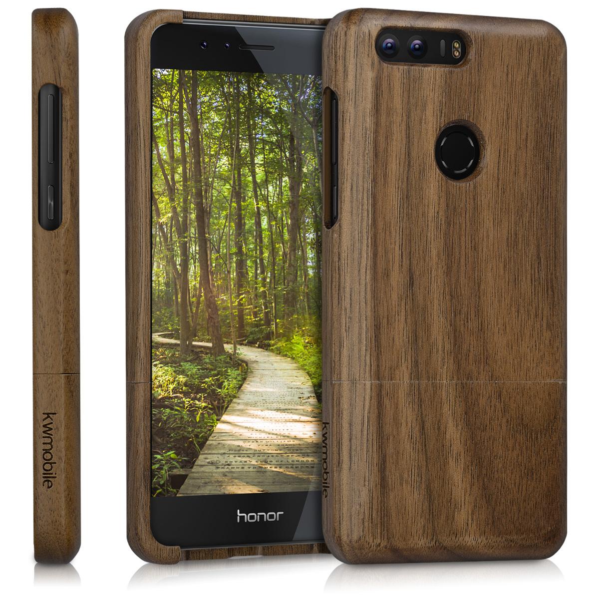 KW Ξύλινη Θήκη Huawei Honor 8 - Dark Brown (40066.18)