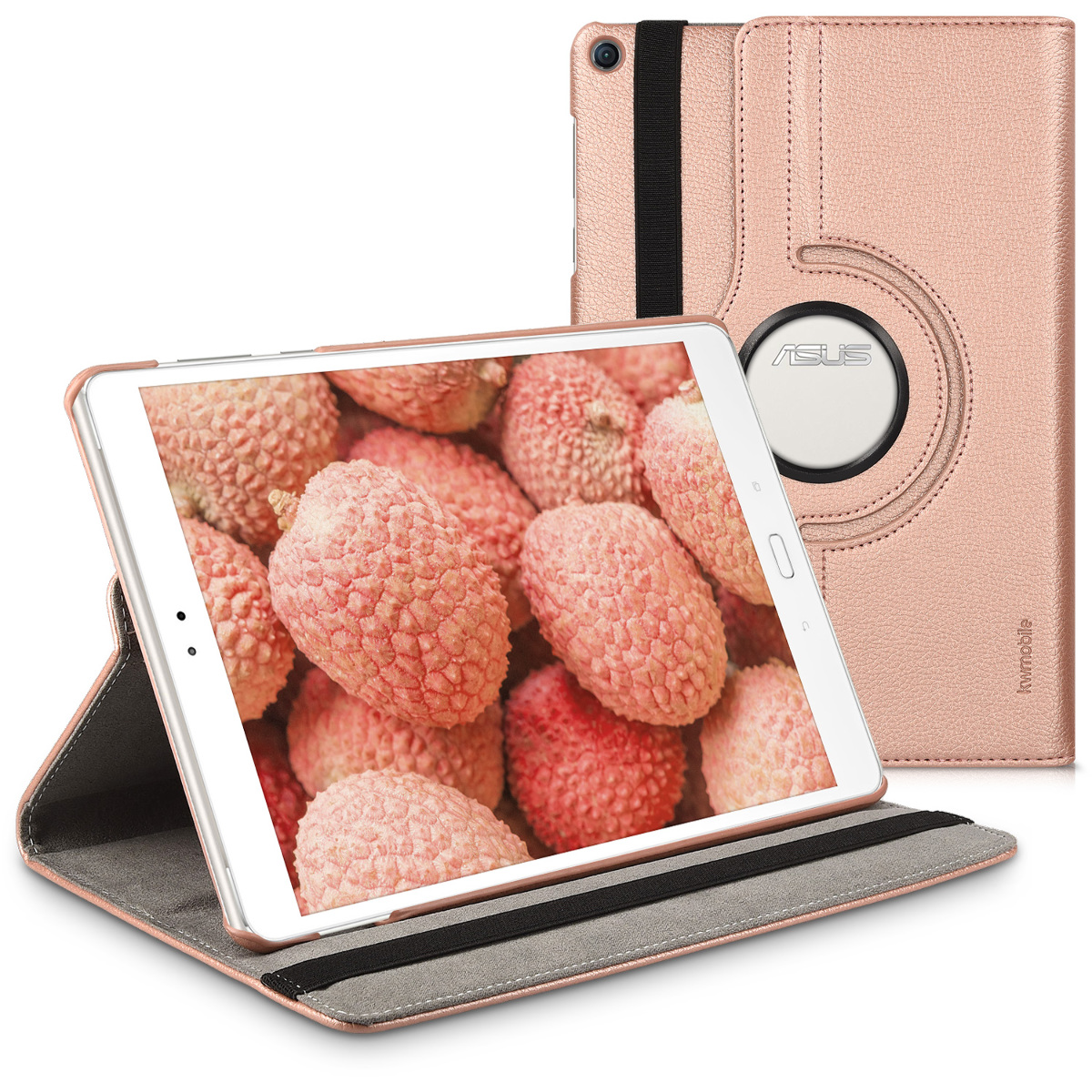 KW Θήκη 360° Asus ZenPad 3S 10 - PU Leather Protective Tablet Cover with Stand Function - Rose Gold (40148.81)
