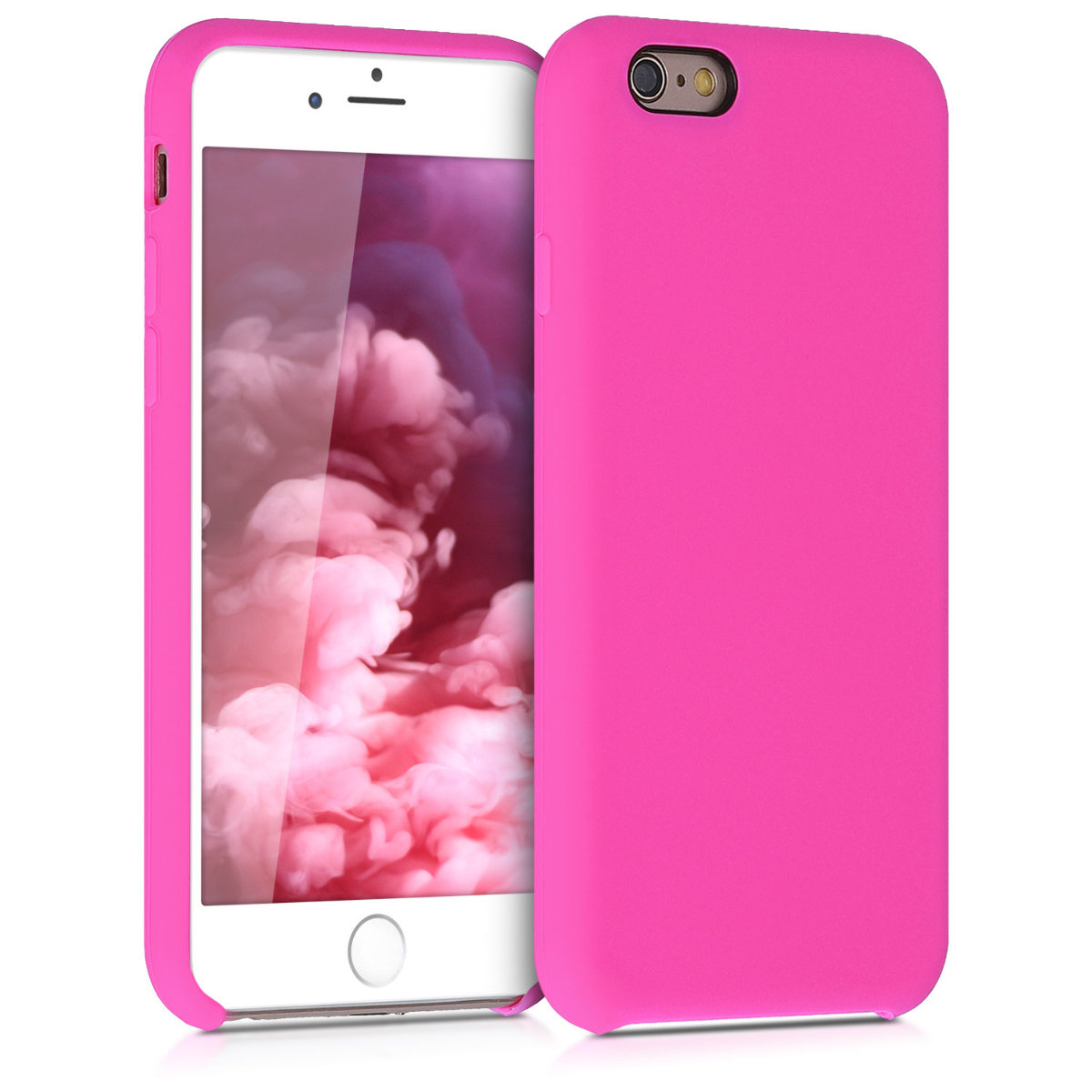 KW Θήκη Σιλικόνης iPhone 6 / 6S - Soft Flexible Rubber Protective Cover - Magenta - (40223.135)