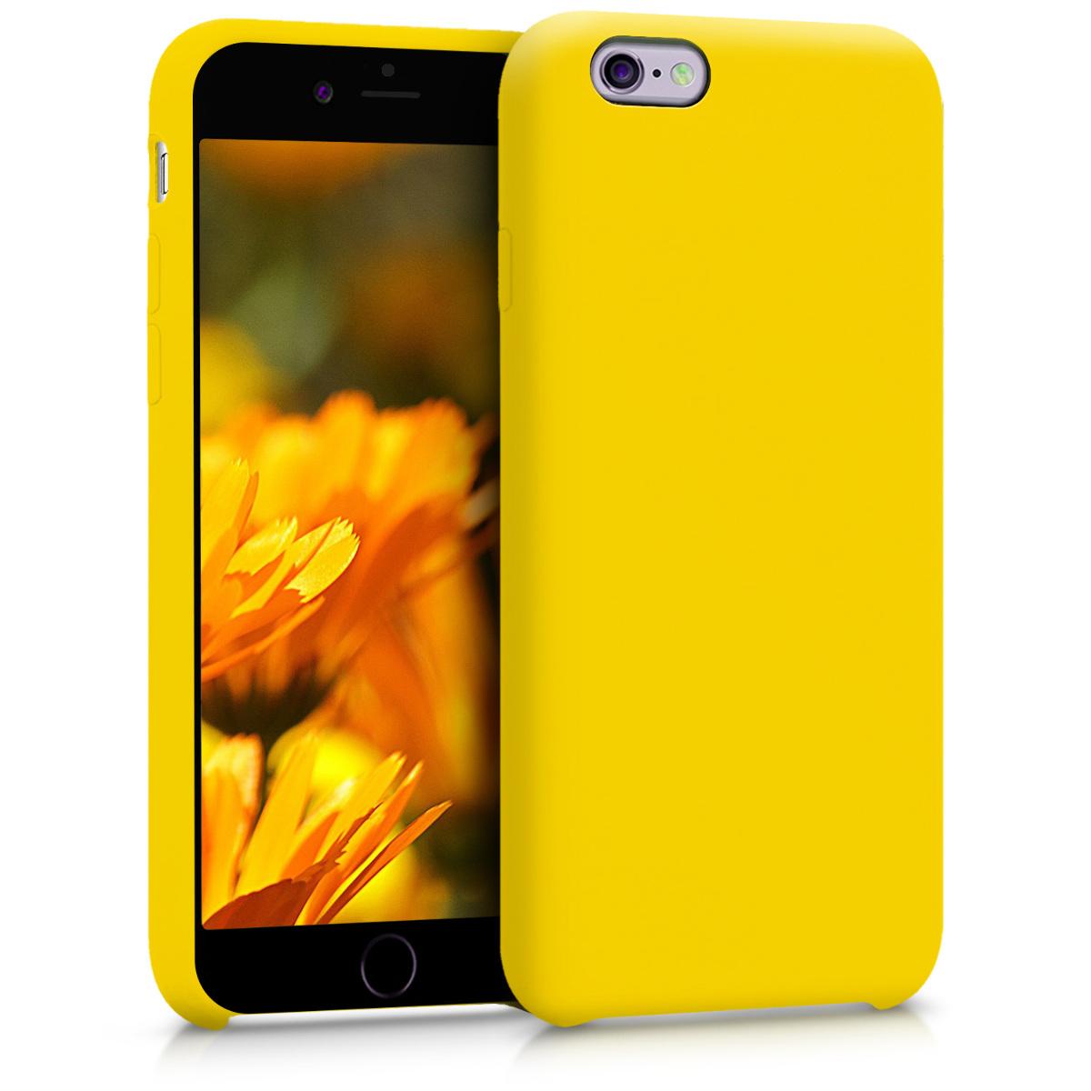 KW Θήκη Σιλικόνης Apple iPhone 6 / 6S - Soft Flexible Rubber - Vibrant Yellow (40223.165)