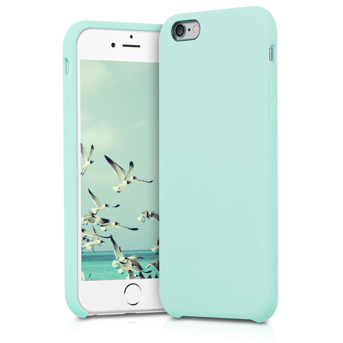 KW Θήκη Σιλικόνης Apple iPhone 6 / 6S - Soft Flexible Rubber - Mint Matte (40223.71)