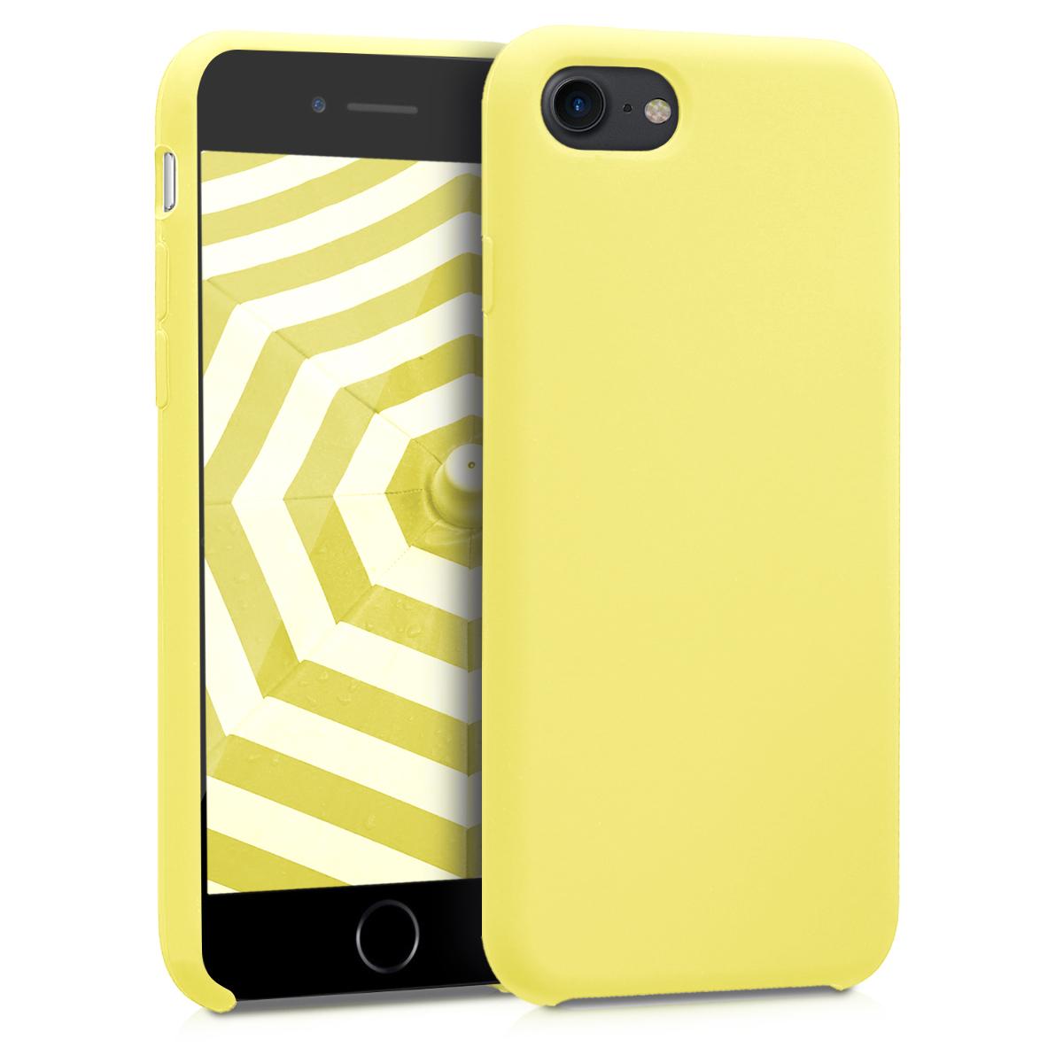 KW TPU Θήκη Σιλικόνης Apple iPhone 7 / 8 - Pastel Yellow (40225.30)