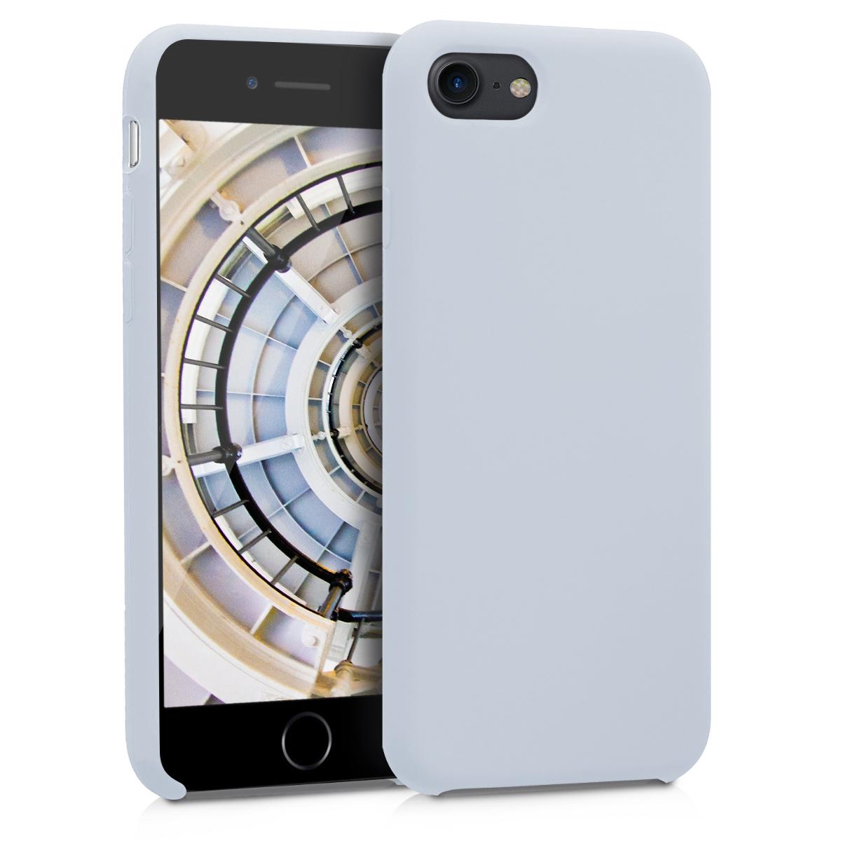 KW Θήκη Σιλικόνης iPhone 8 / 7 - Light Grey Matte (40225.70)
