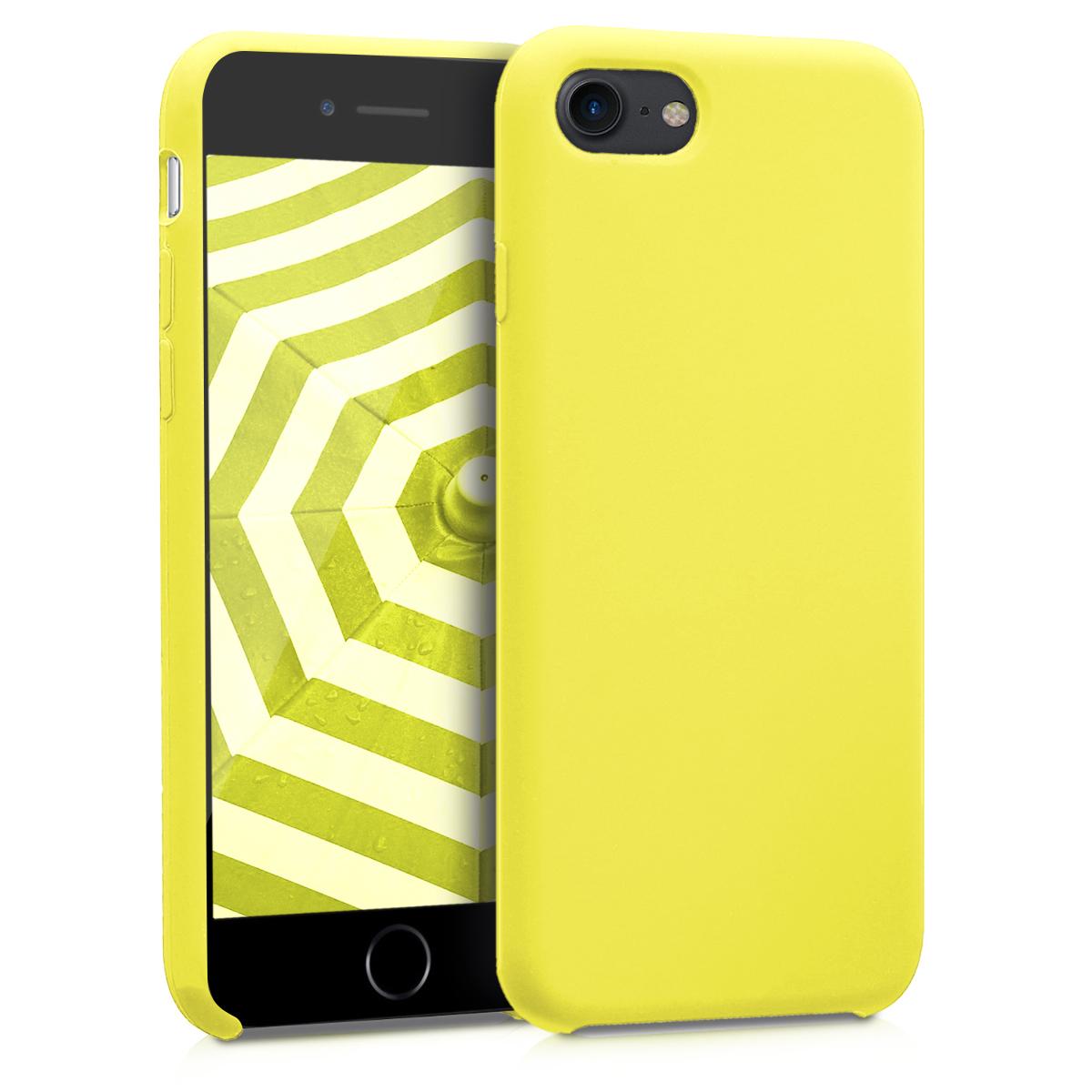 KW Soft Flexible Rubber Θήκη Σιλικόνης iPhone 7 / 8 - Neon Κίτρινο (40225.75)