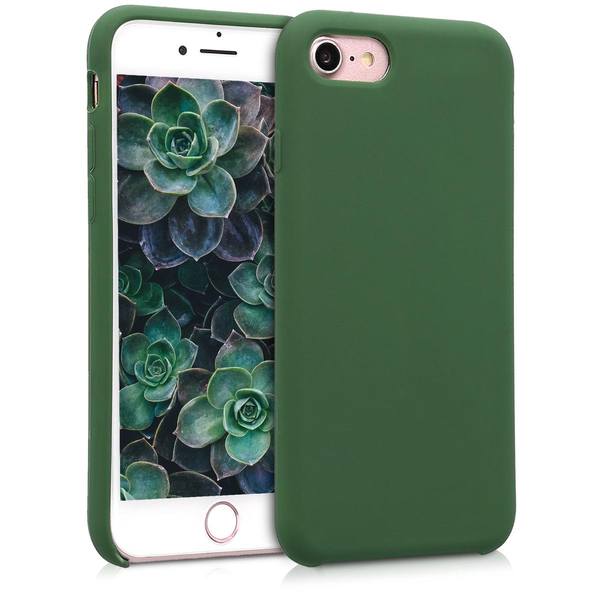 KW Θήκη Σιλικόνης iPhone 8 / 7 - Dark Green (40225.80)