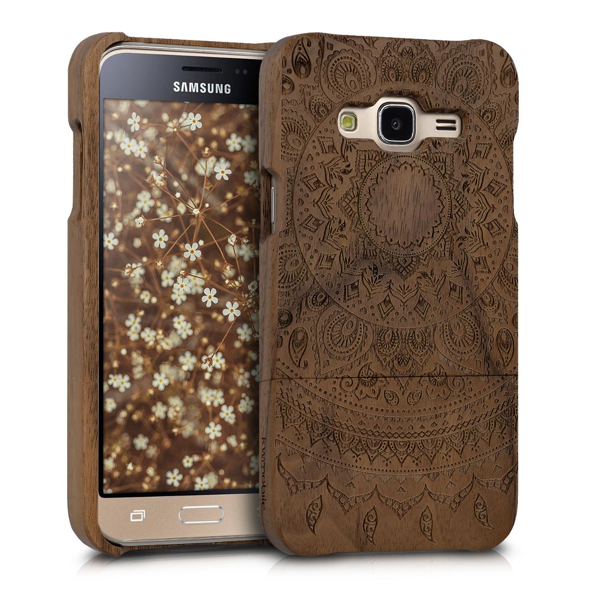 KW Ξύλινη Θήκη Samsung Galaxy J3 (2016) DUOS - Dark Brown (40261.02)