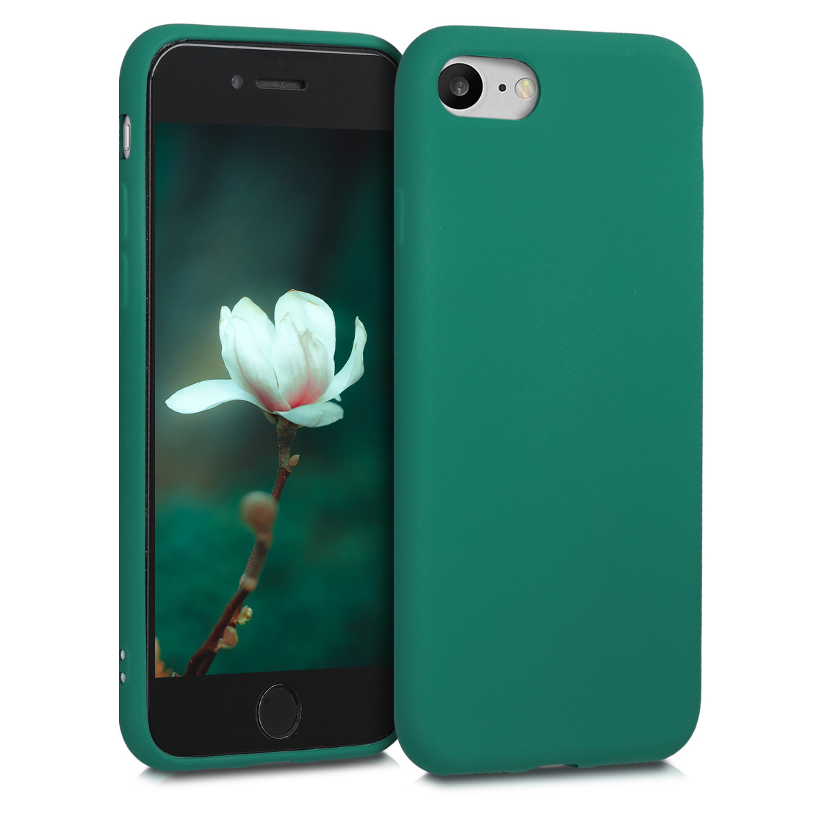 KW Θήκη Σιλικόνης Apple iPhone 7 / 8 - Dark Metallic Green (40350.170)