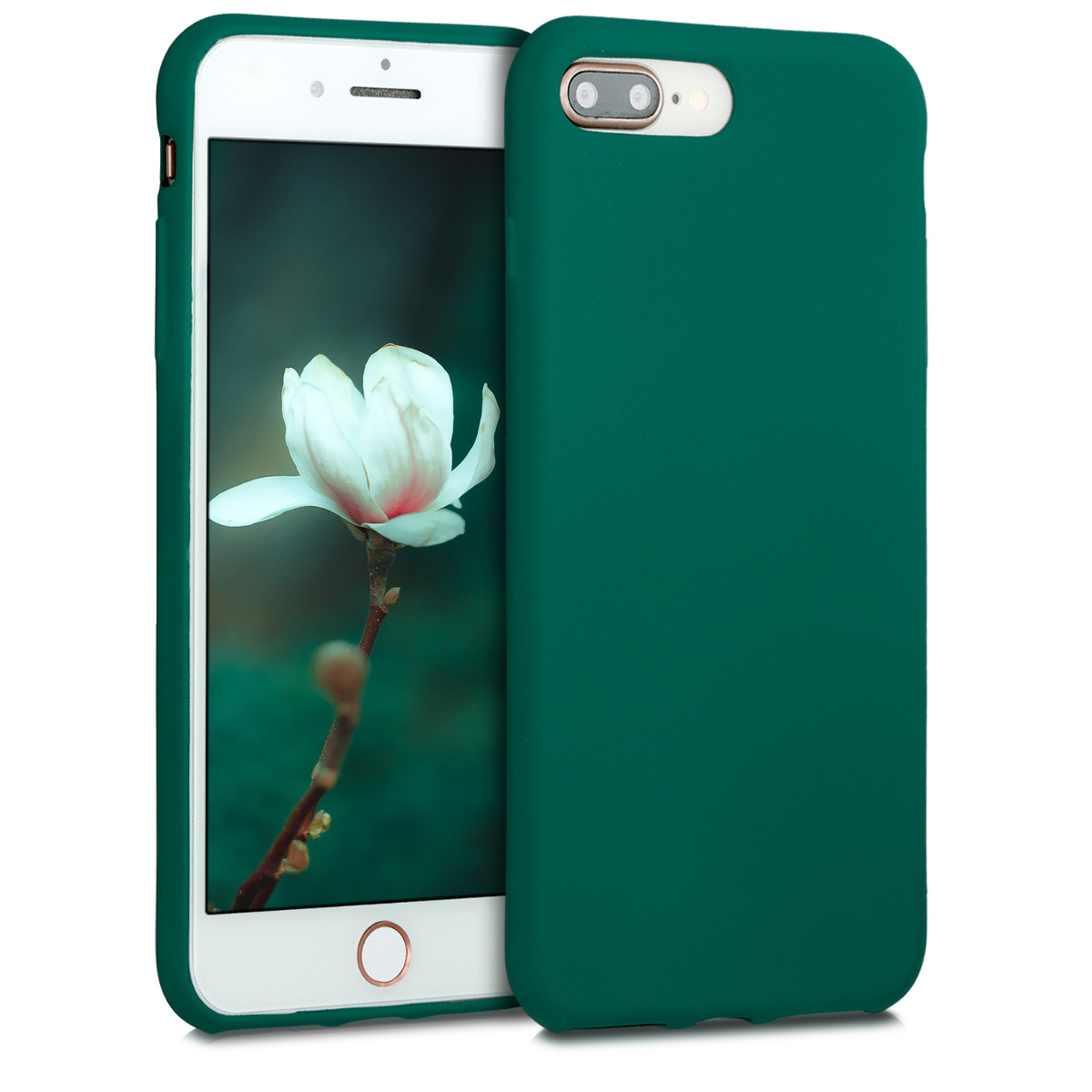 KW Θήκη Σιλικόνης Apple iPhone 7 Plus / 8 Plus - Dark Metallic Green (40351.170)