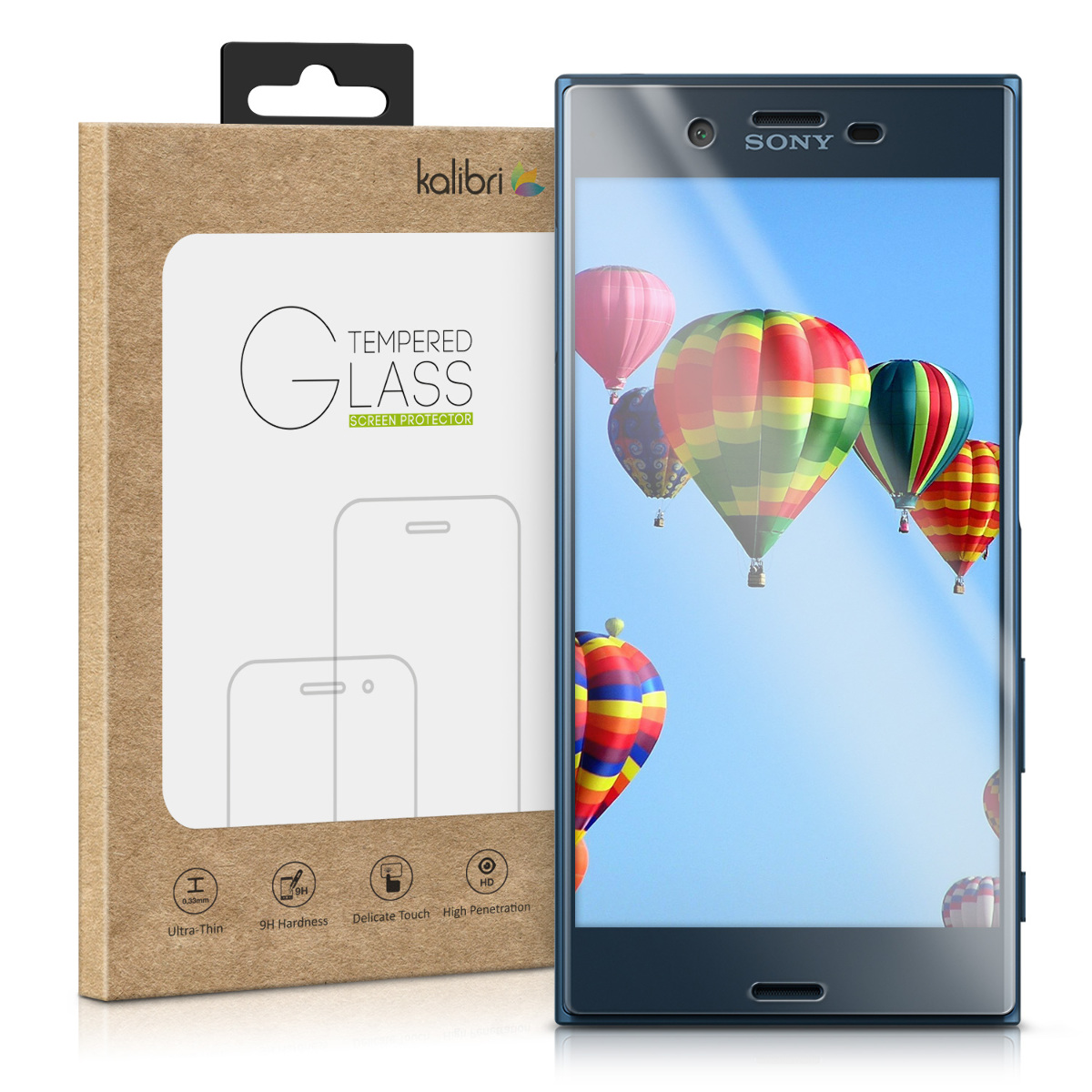 Kalibri Tempered Glass - Αντιχαρακτικό Γυαλί Οθόνης Sony Xperia XZ / XZs - Transparent Frame (40453.03)