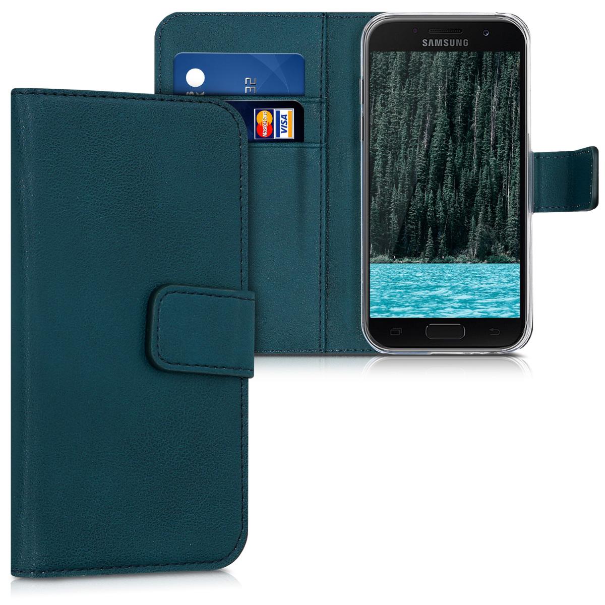 KW Θήκη Πορτοφόλι Samsung Galaxy A3 (2017) -  Petrol (40692.78)