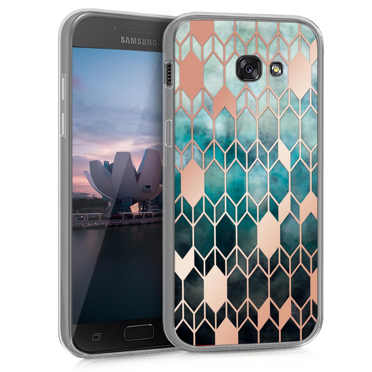 KW Θήκη Σιλικόνης Samsung Galaxy A5 (2017) -  Blue / Rose Gold (40707.28)