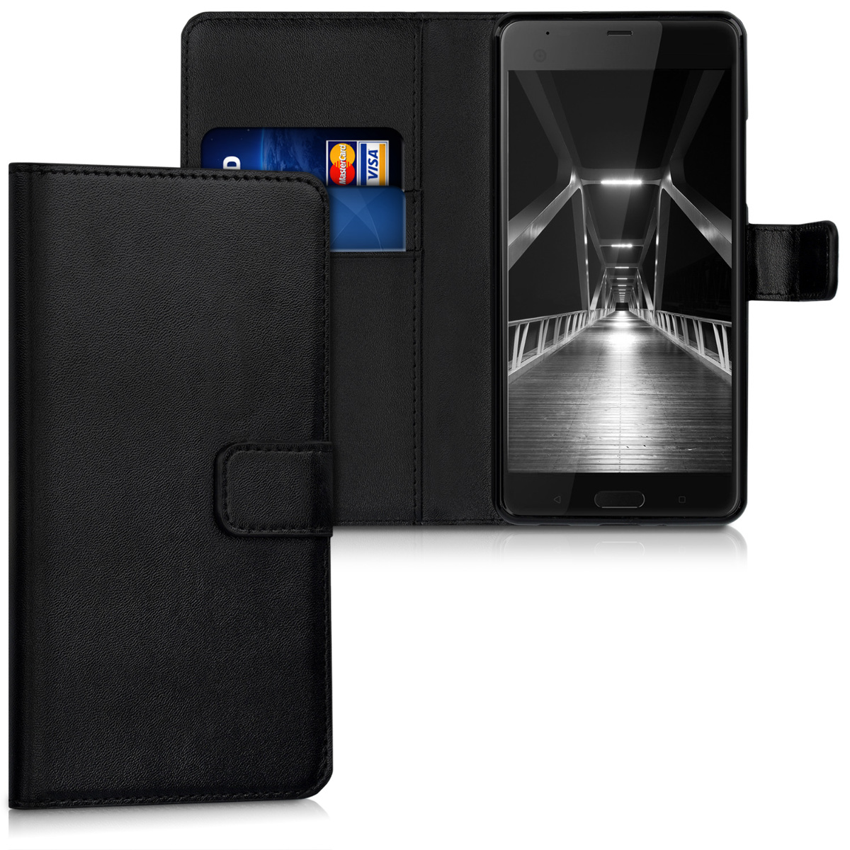 KW Θήκη - Πορτοφόλι HTC U Ultra - Black (40751.01)