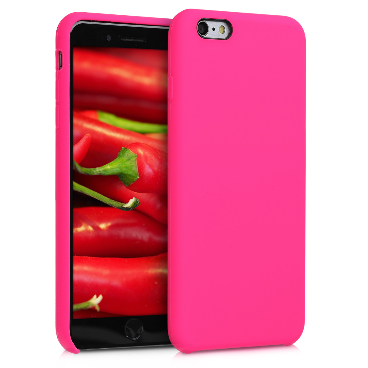 KW TPU Θήκη Σιλικόνης Apple iPhone 6 Plus / 6S Plus - Neon Pink (40841.08)