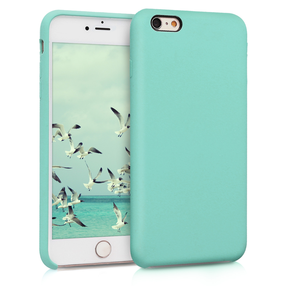 KW Θήκη Σιλικόνης iPhone 6 Plus / 6S Plus - Soft Flexible Rubber Protective Cover - Mint Matte (40841.50)