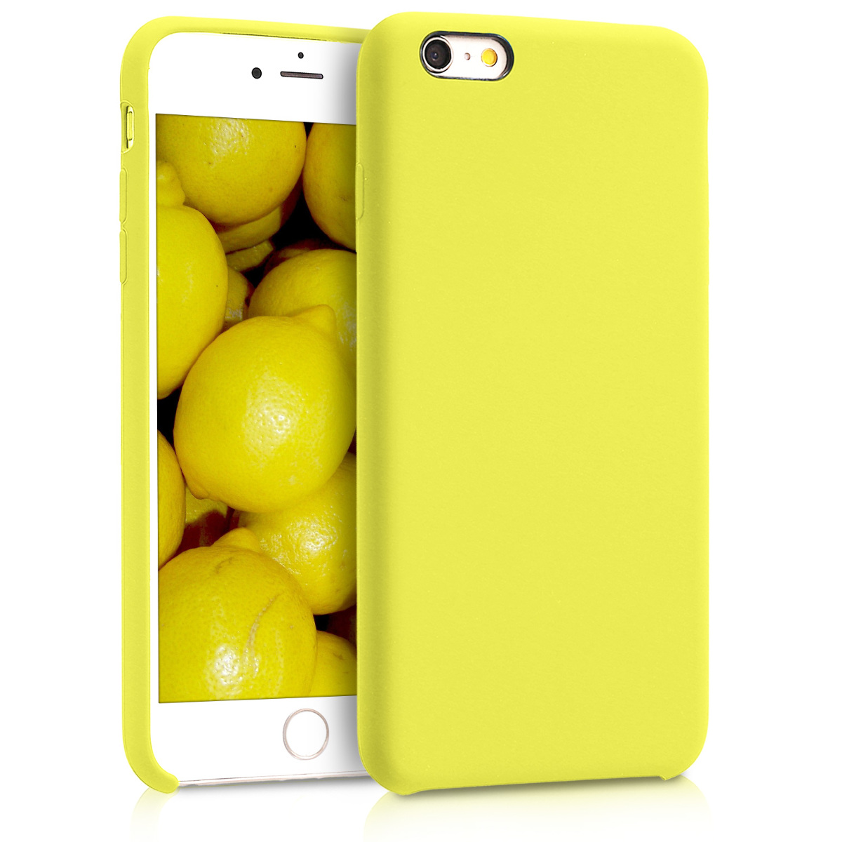 KW Θήκη Σιλικόνης iPhone 6 Plus / 6S Plus - Soft Flexible Rubber Protective Cover - Neon Yellow - (40841.75)