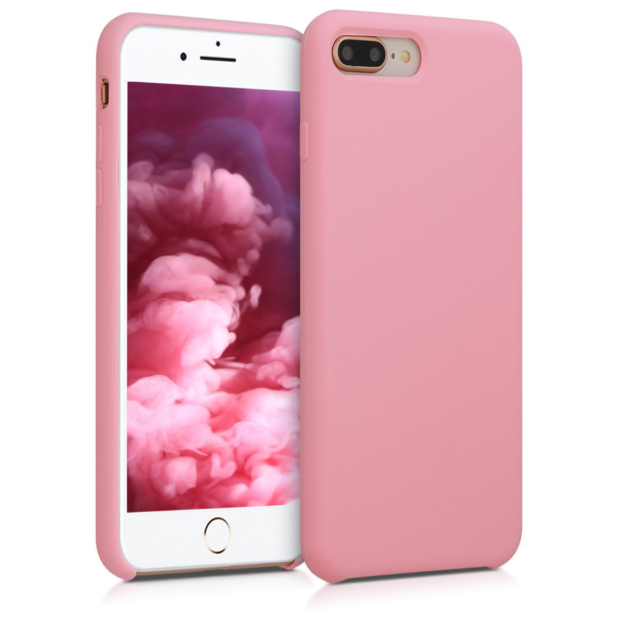 KW Θήκη Σιλικόνης iPhone 7 Plus / 8 Plus - Soft Flexible Rubber Protective Cover - Light Pink - (40842.110)