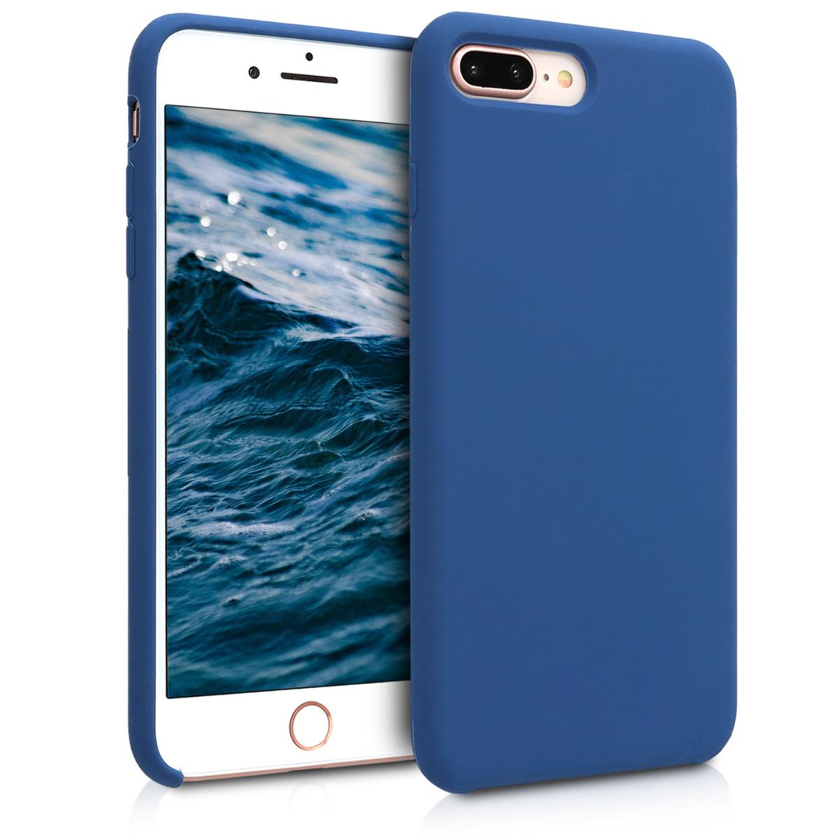 KW Soft Flexible Rubber Θήκη Σιλικόνης iPhone 7 Plus / 8 Plus - Navy Blue (40842.116)