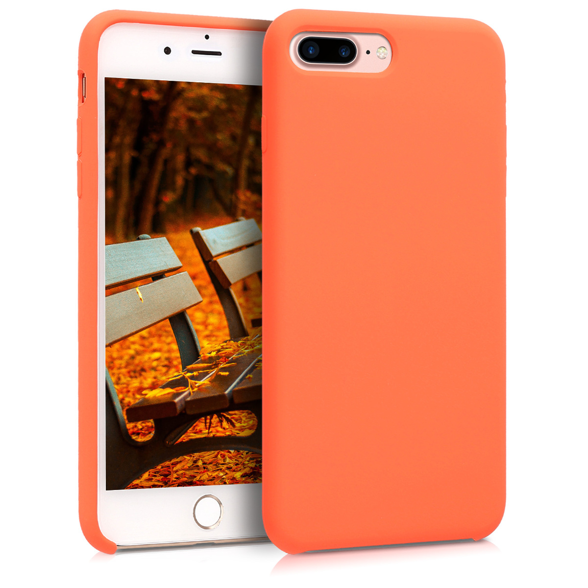 KW TPU Θήκη Σιλικόνης Apple iPhone 7 Plus / 8 Plus - Soft Flexible Rubber Protective Cover - Orange (40842.29)