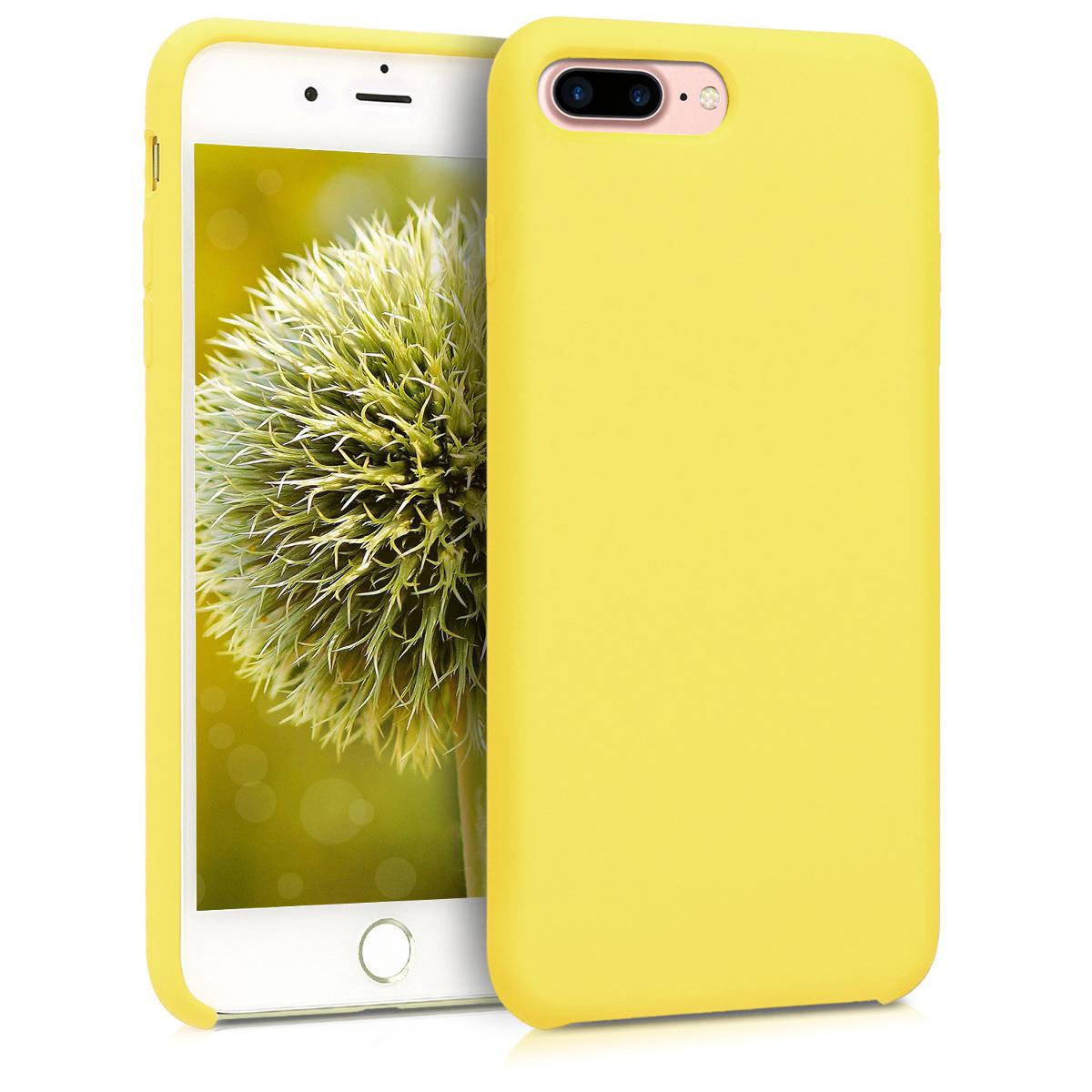 KW TPU Θήκης Σιλικόνης Apple iPhone 7 Plus / 8 Plus - Soft Flexible Rubber - Pastel Yellow (40842.30)