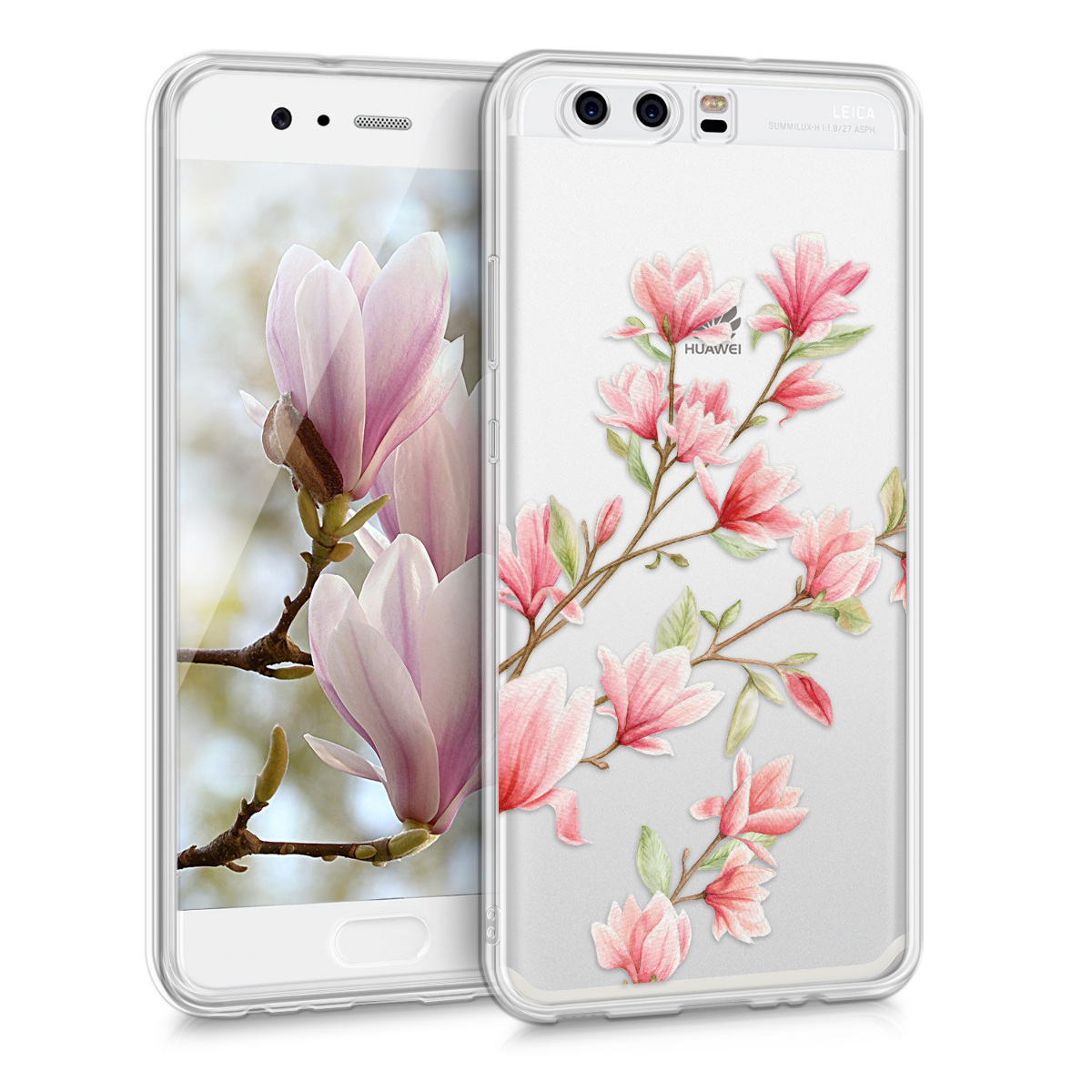 KW Θήκη Σιλικόνης Case for Huawei P10 - Light Pink / White / Transparent (40970.31)