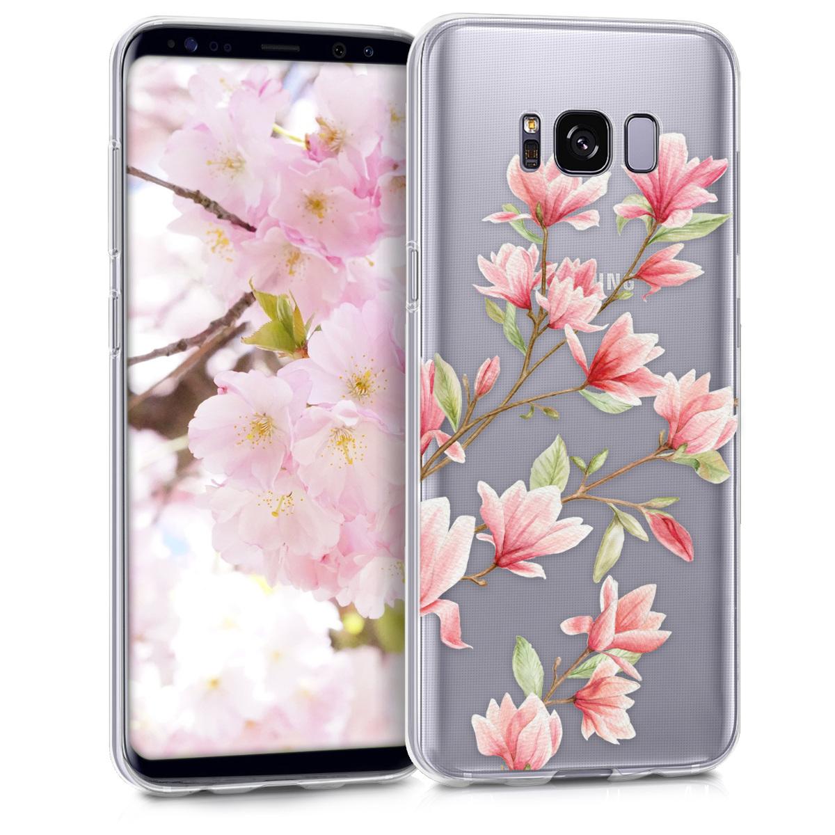 KW Θήκη Σιλικόνης (TPU) Samsung Galaxy S8 - Διάφανη με σχέδιο λουλουδιών (40977.18)