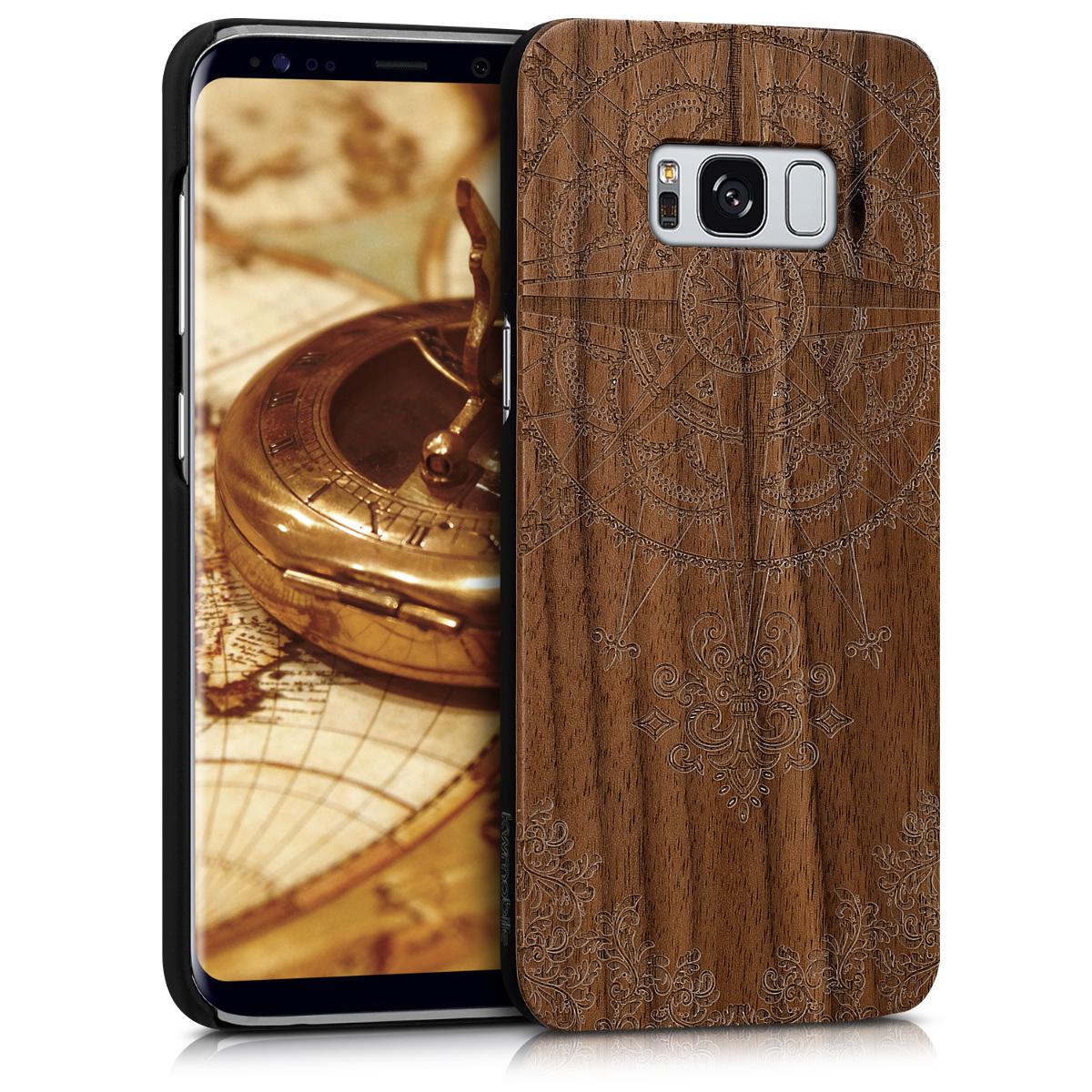 KW Σκληρή Ξύλινη Θήκη - Samsung Galaxy S8 - Brown (40979.02)